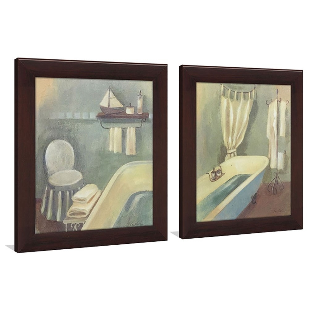 Shop Bathroom 1 Framed & Canvassed Wall Art (Set Of 2) – On Sale Intended For Set Of 2 Framed Wall Art (View 15 of 20)