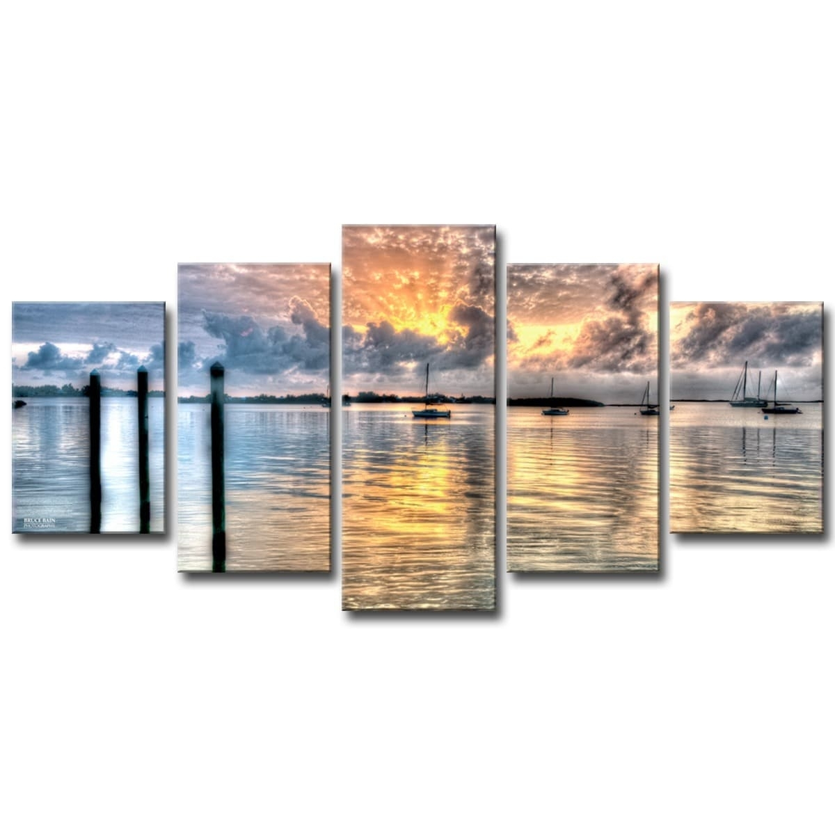 Shop Bruce Bain 'calm Waters' 5-Piece Canvas Wall Art - Free with regard to 5 Piece Canvas Wall Art (Image 16 of 20)