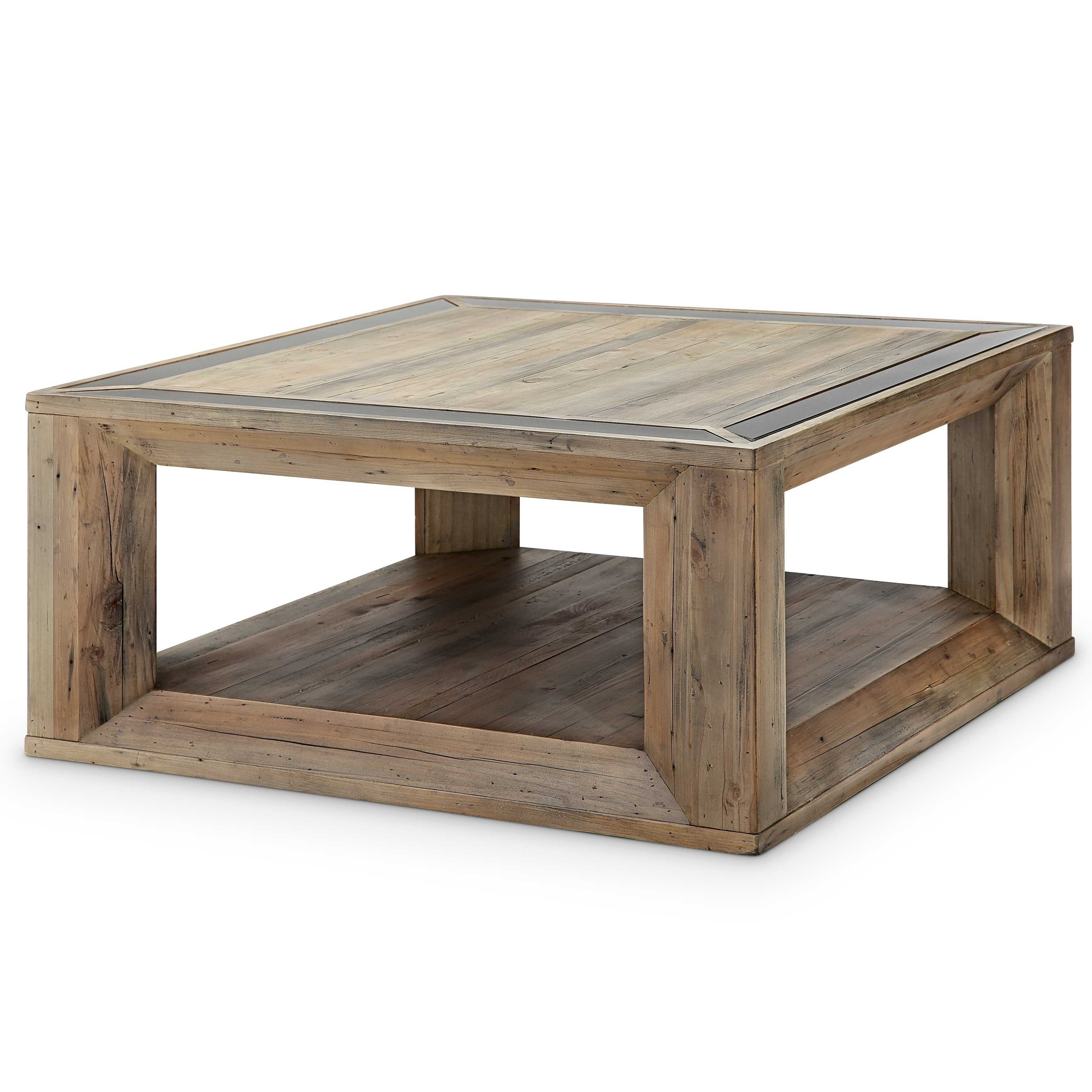 Shop Brunswick Farmhouse Square Coffee Table With Casters - On Sale in Large-Scale Chinese Farmhouse Coffee Tables (Image 27 of 30)