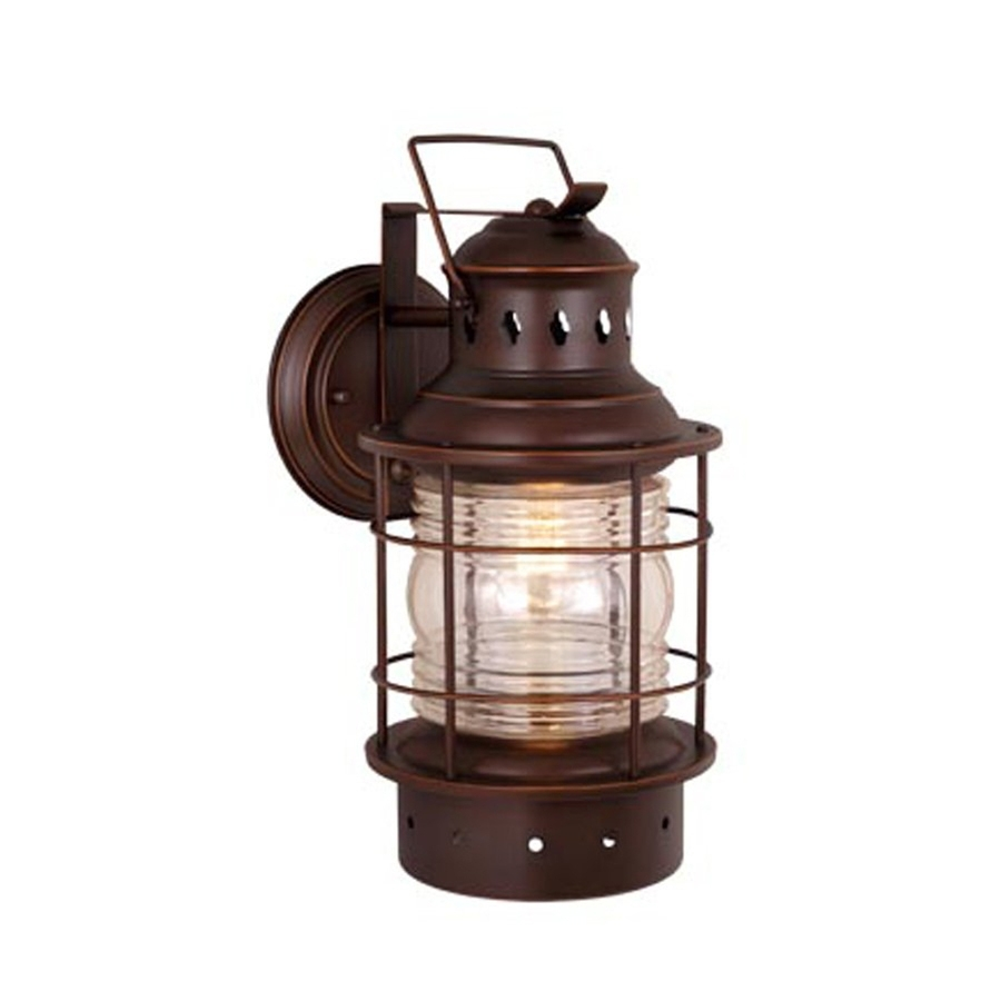 Shop Cascadia Lighting Nautical 12-In H Burnished Bronze Outdoor in Outdoor Nautical Lanterns (Image 16 of 20)