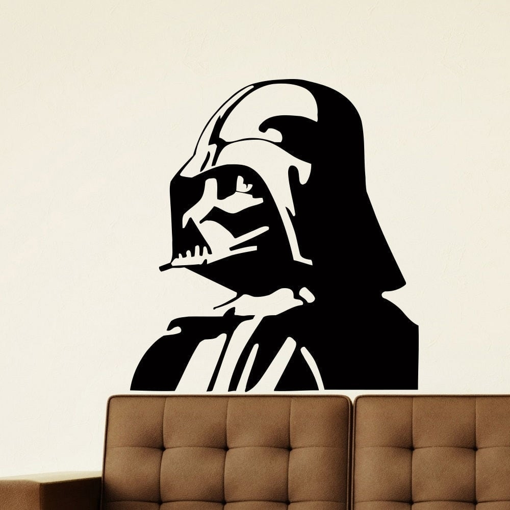 Shop Darth Vader Vinyl Wall Art Decal Sticker - Free Shipping On inside Darth Vader Wall Art (Image 15 of 20)