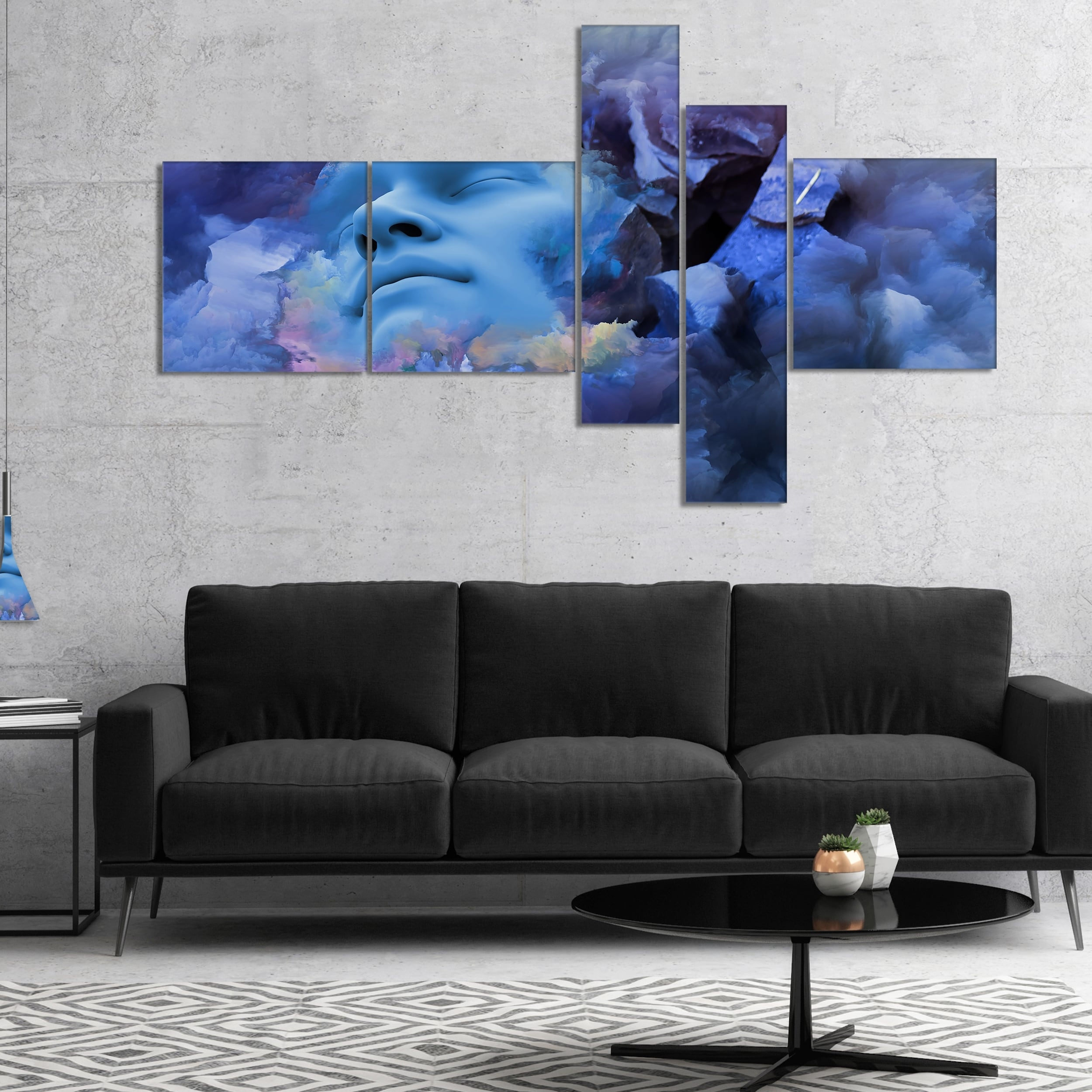 Shop Designart 'game Of Dream Woman Sleeping' Abstract Canvas Wall within Abstract Canvas Wall Art (Image 19 of 20)