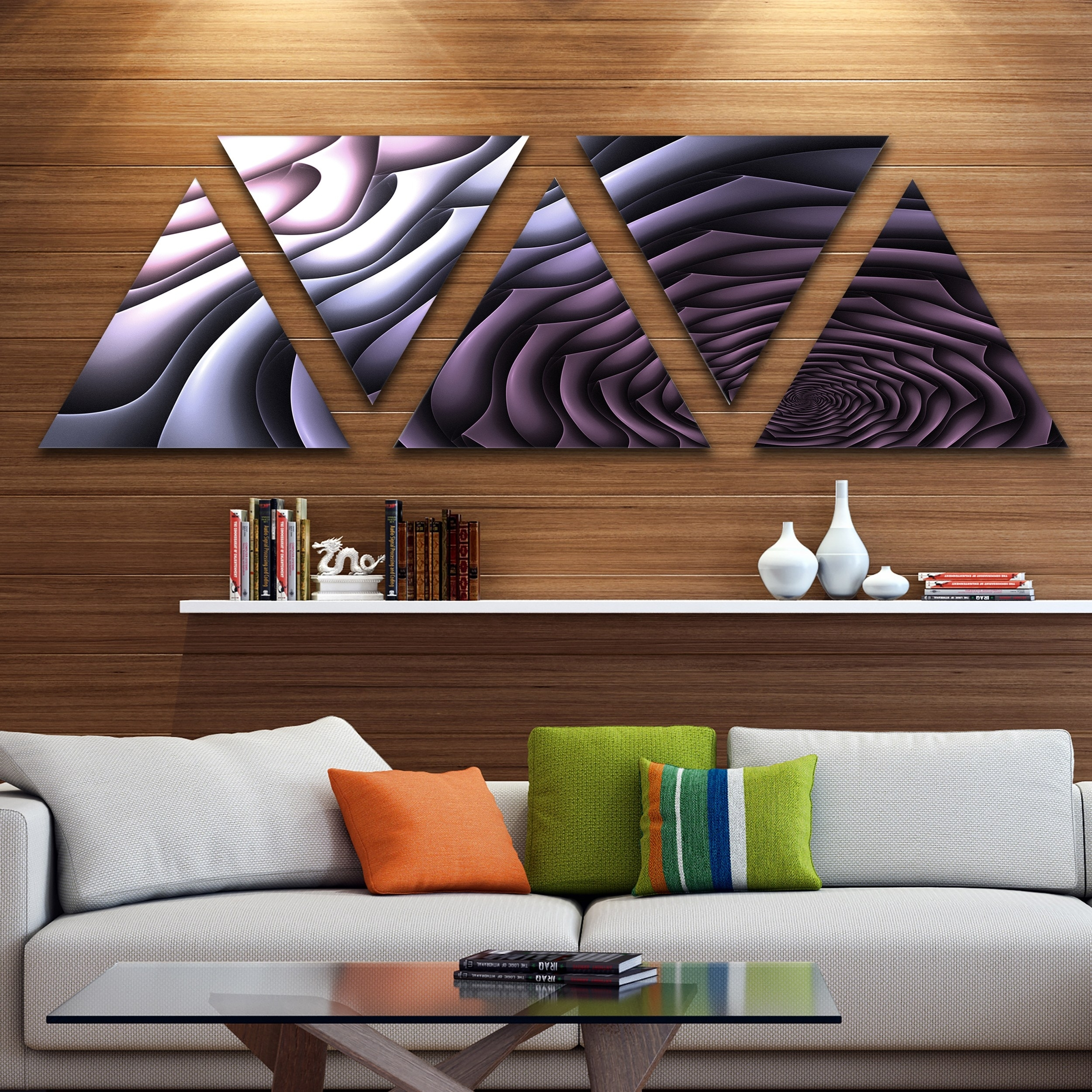 Shop Designart 'purple Flower Shaped Fractal Art' Contemporary Wall within Contemporary Wall Art (Image 16 of 20)