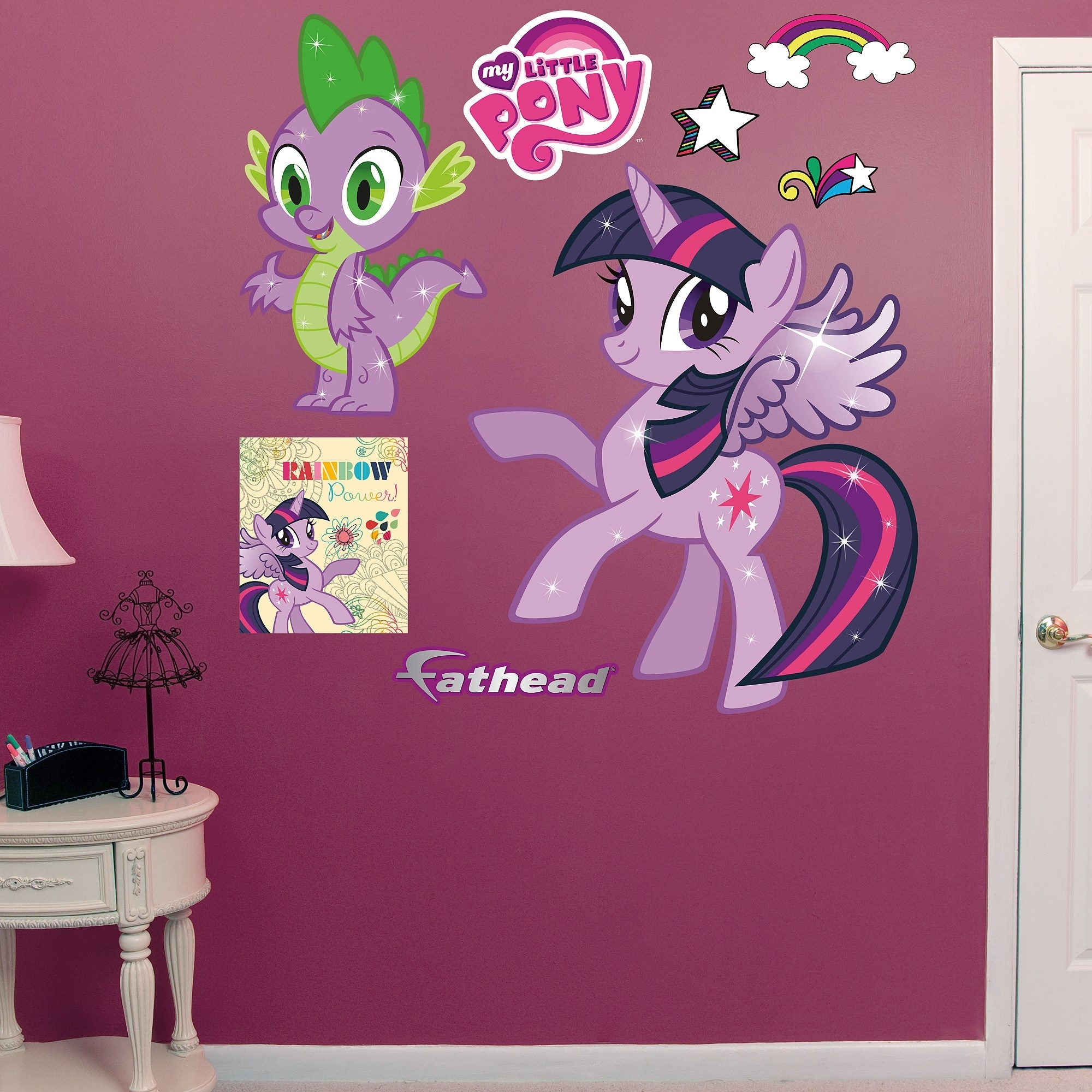 Shop Fathead Twilight Sparkle & Spike My Little Pony Wall Decals with regard to My Little Pony Wall Art (Image 20 of 20)