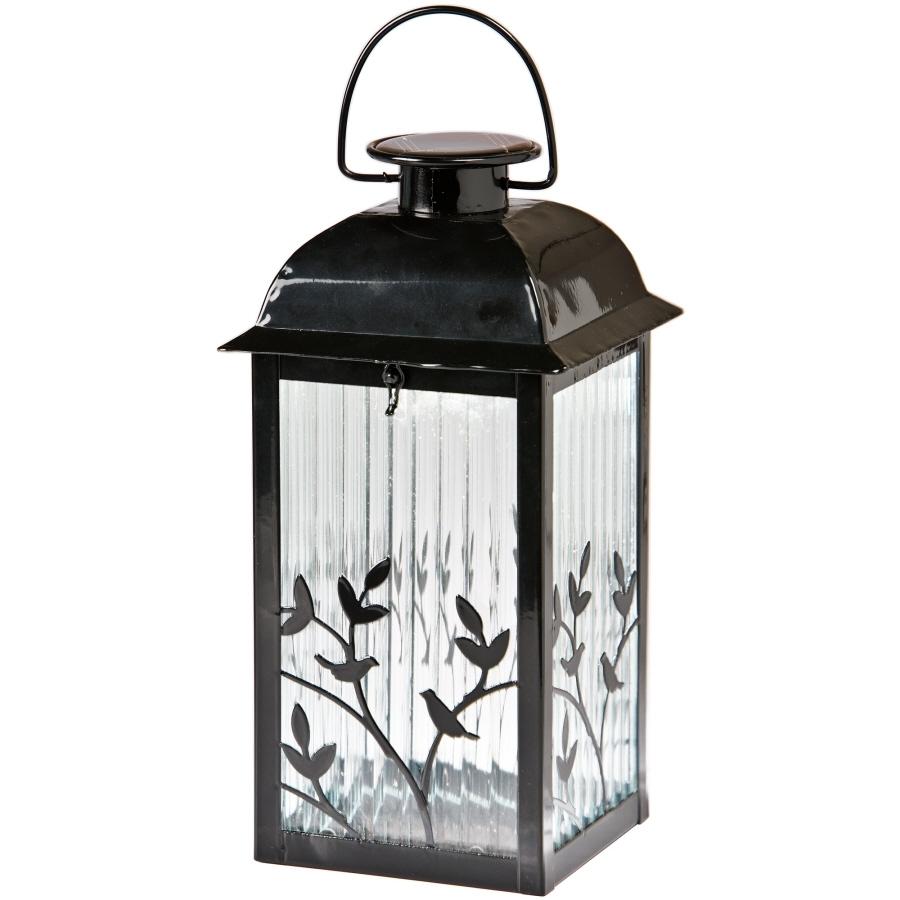 Shop Gemmy 5.3-In X 12.2-In Black Glass Solar Outdoor Decorative with regard to Outdoor Jar Lanterns (Image 19 of 20)
