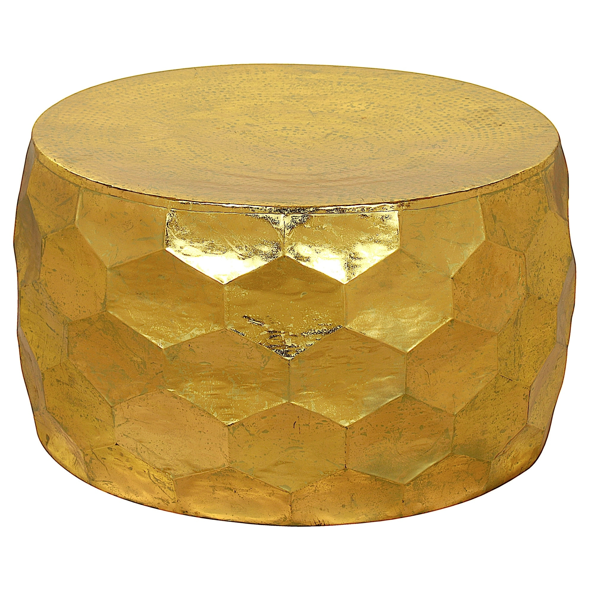 Shop Gemoratic Hammered Gold Leaf Metal Coffee Table - Free Shipping in Cuff Hammered Gold Coffee Tables (Image 19 of 30)