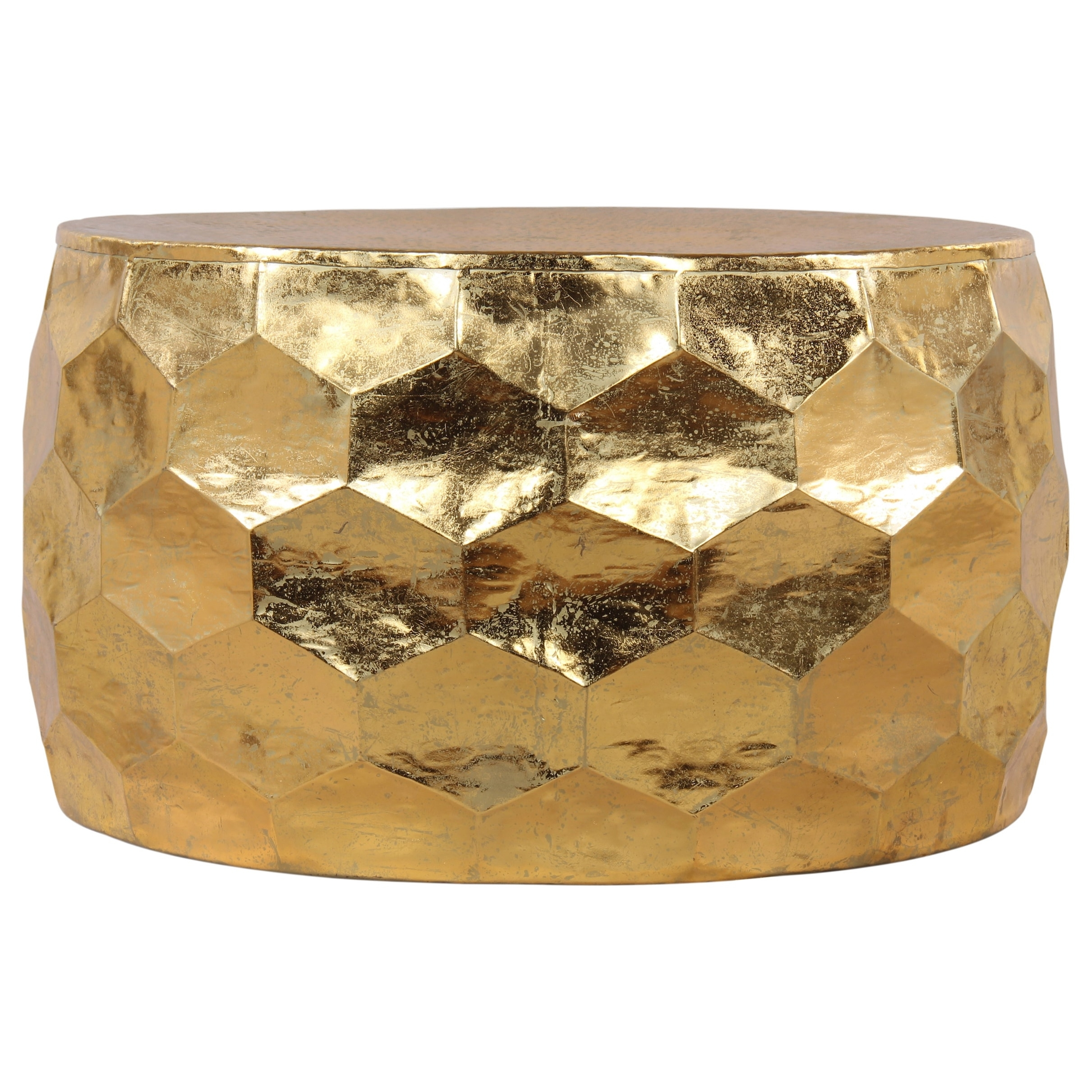 Shop Gemoratic Hammered Gold Leaf Metal Coffee Table - Free Shipping inside Cuff Hammered Gold Coffee Tables (Image 20 of 30)