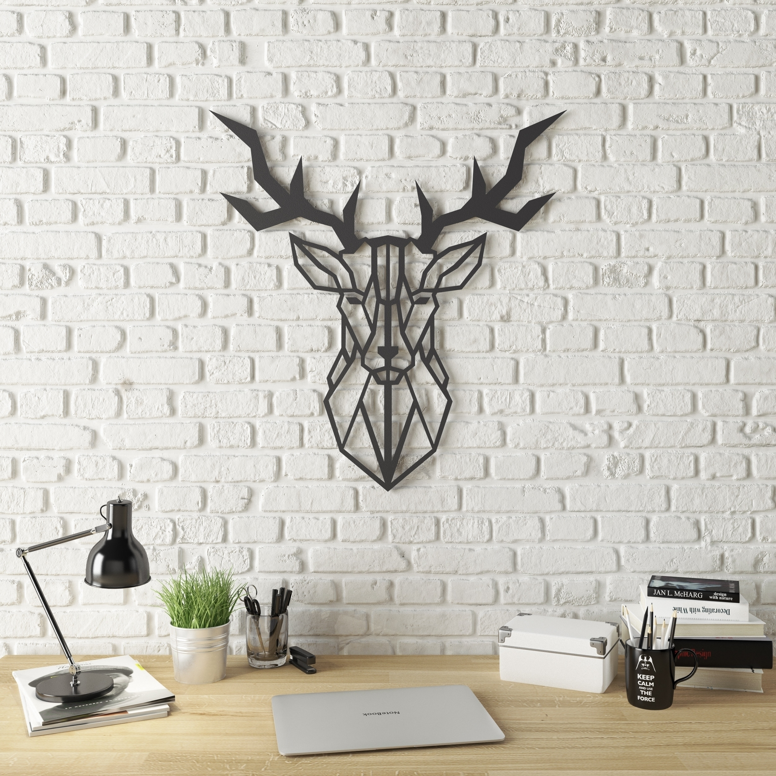 Shop Geo Deer Modern Metal Wall Art – Free Shipping Today In Modern Metal Wall Art (View 14 of 20)