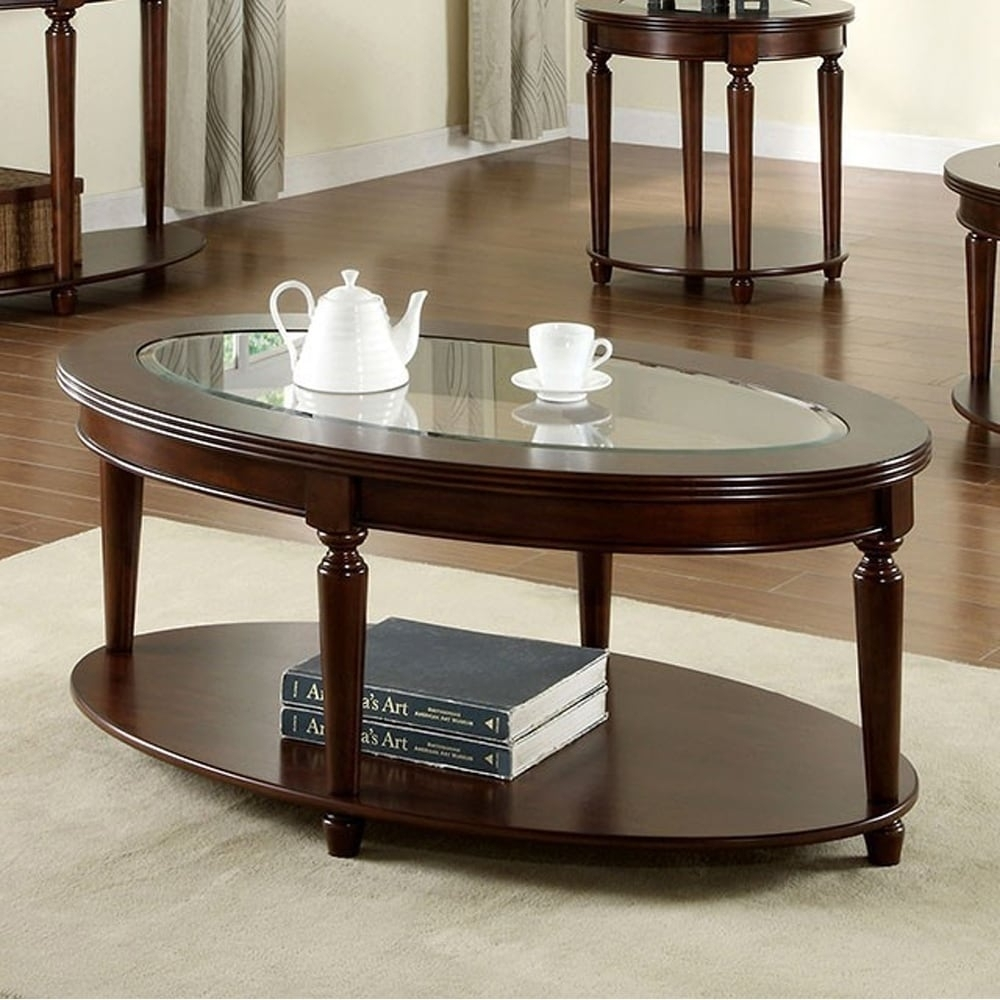 Shop Granvia Traditional Coffee Table In Dark Cherry Finish - Free with regard to Traditional Coffee Tables (Image 20 of 30)