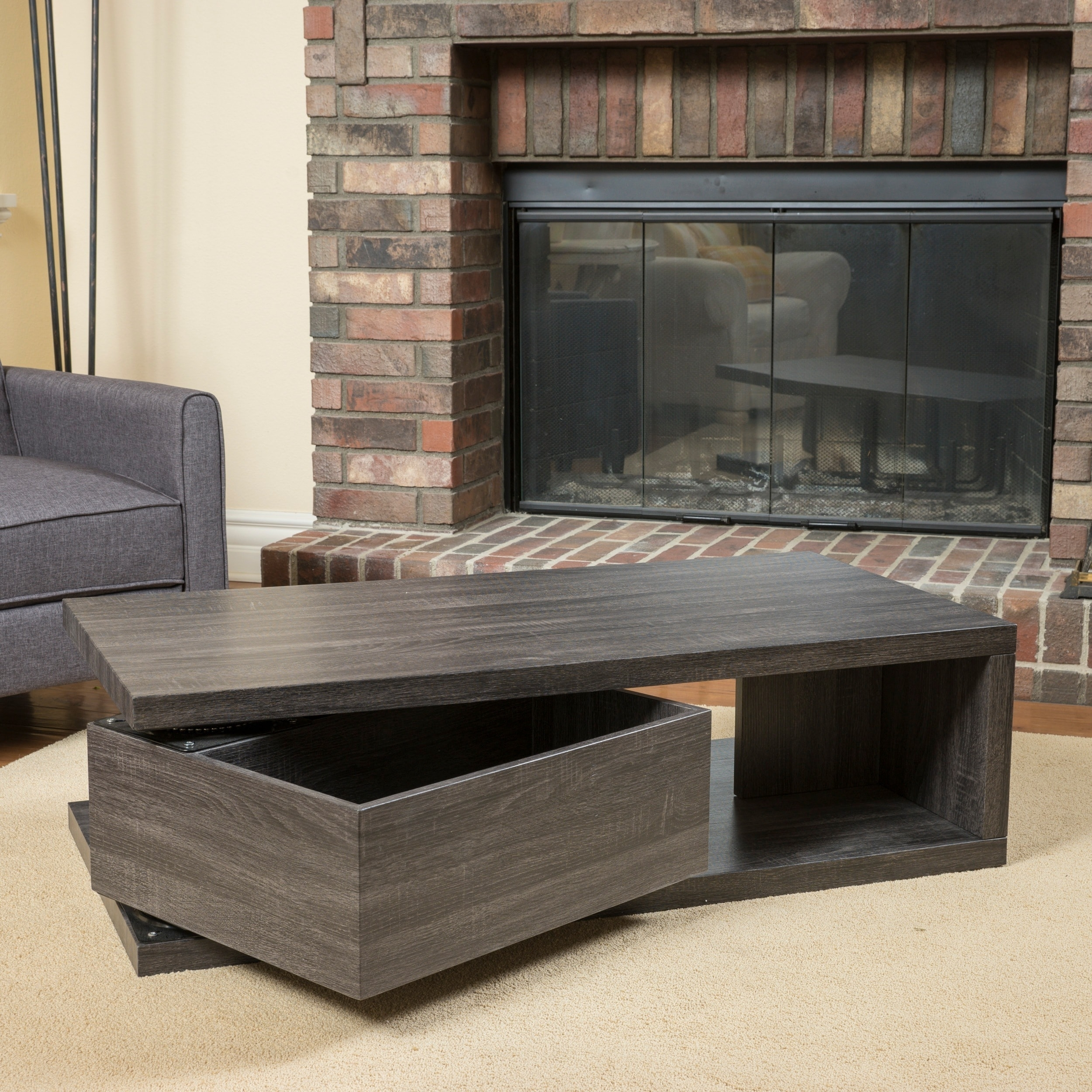 Shop Jack Rectangular Rotating Wood Coffee Tablechristopher Inside Spin Rotating Coffee Tables (View 22 of 30)