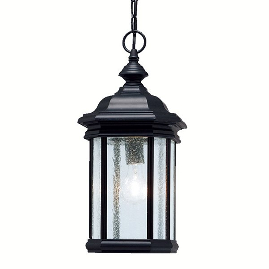 Shop Kichler Kirkwood 18-In Black Outdoor Pendant Light At Lowes throughout Outdoor Pendant Lanterns (Image 17 of 20)