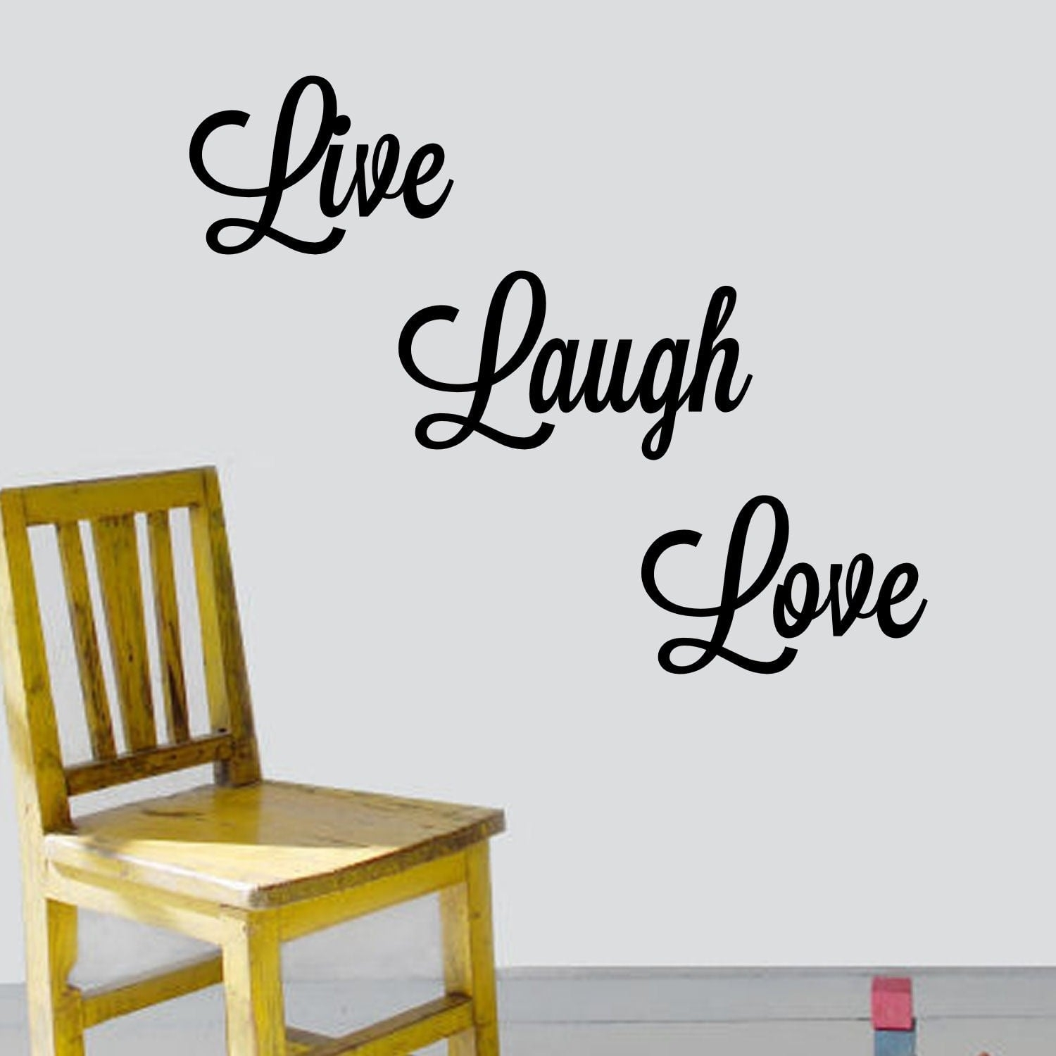 Shop 'live, Laugh, Love' Vinyl Wall Art Decal – Free Shipping On Intended For Live Laugh Love Wall Art (View 12 of 20)