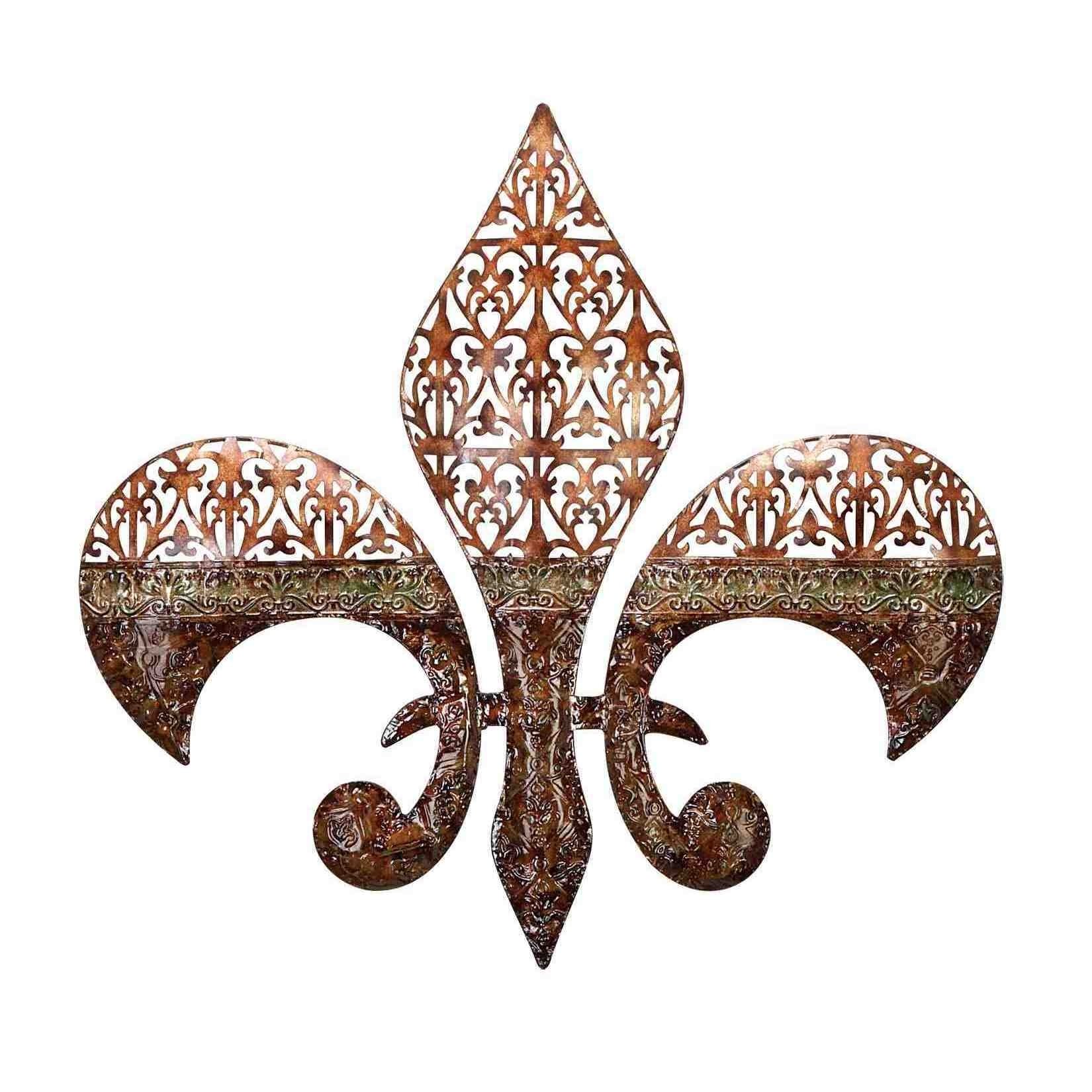 Shop Metal Fleur De Lis Wall Decor - Free Shipping On Orders Over for Fleur De Lis Wall Art (Image 16 of 20)