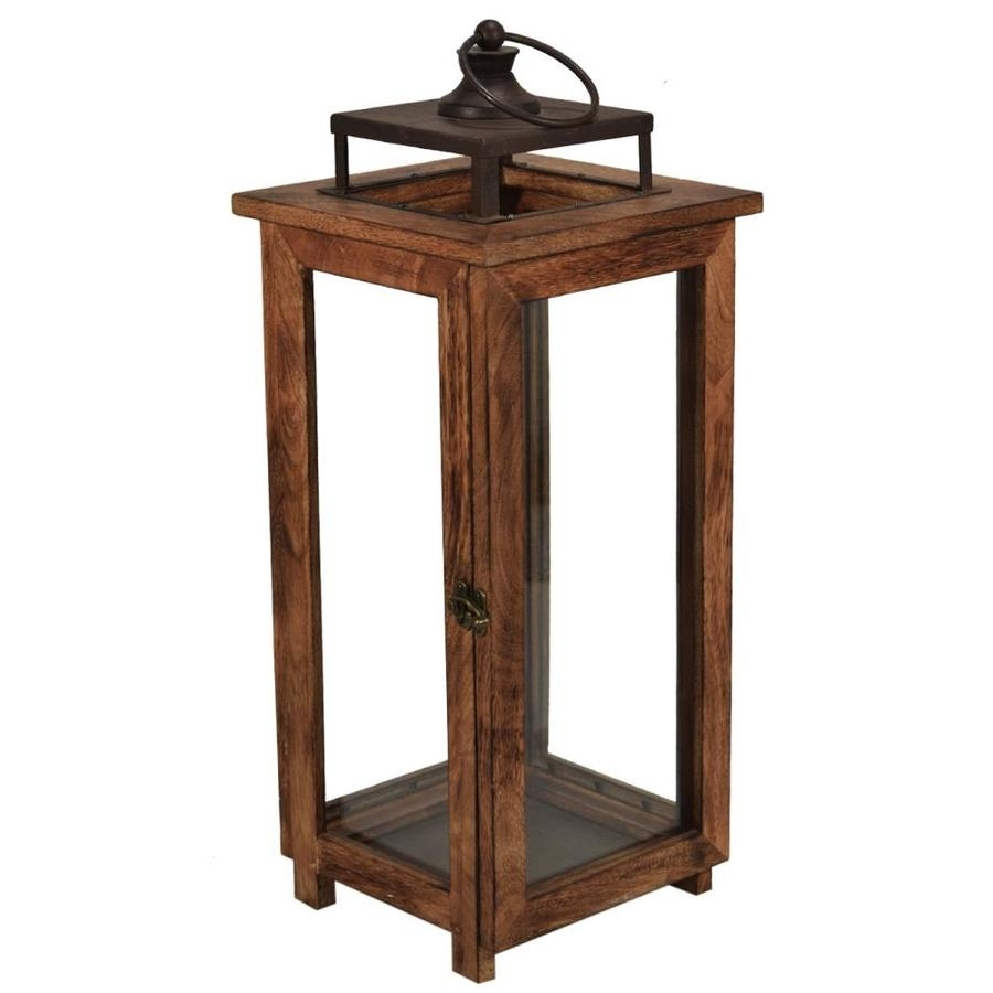 Shop Outdoor Decorative Lanterns At Lowes inside Outdoor Lanterns Without Glass (Image 19 of 20)