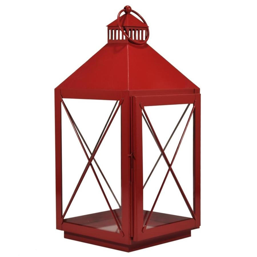 Shop Outdoor Decorative Lanterns At Lowes With Regard To Red Outdoor Table Lanterns (View 2 of 20)