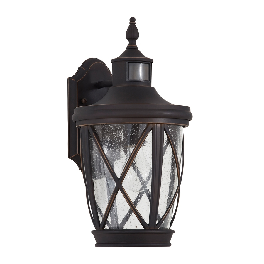 Shop Outdoor Wall Lights At Lowes For Outdoor Motion Lanterns (Photo 6 of 20)