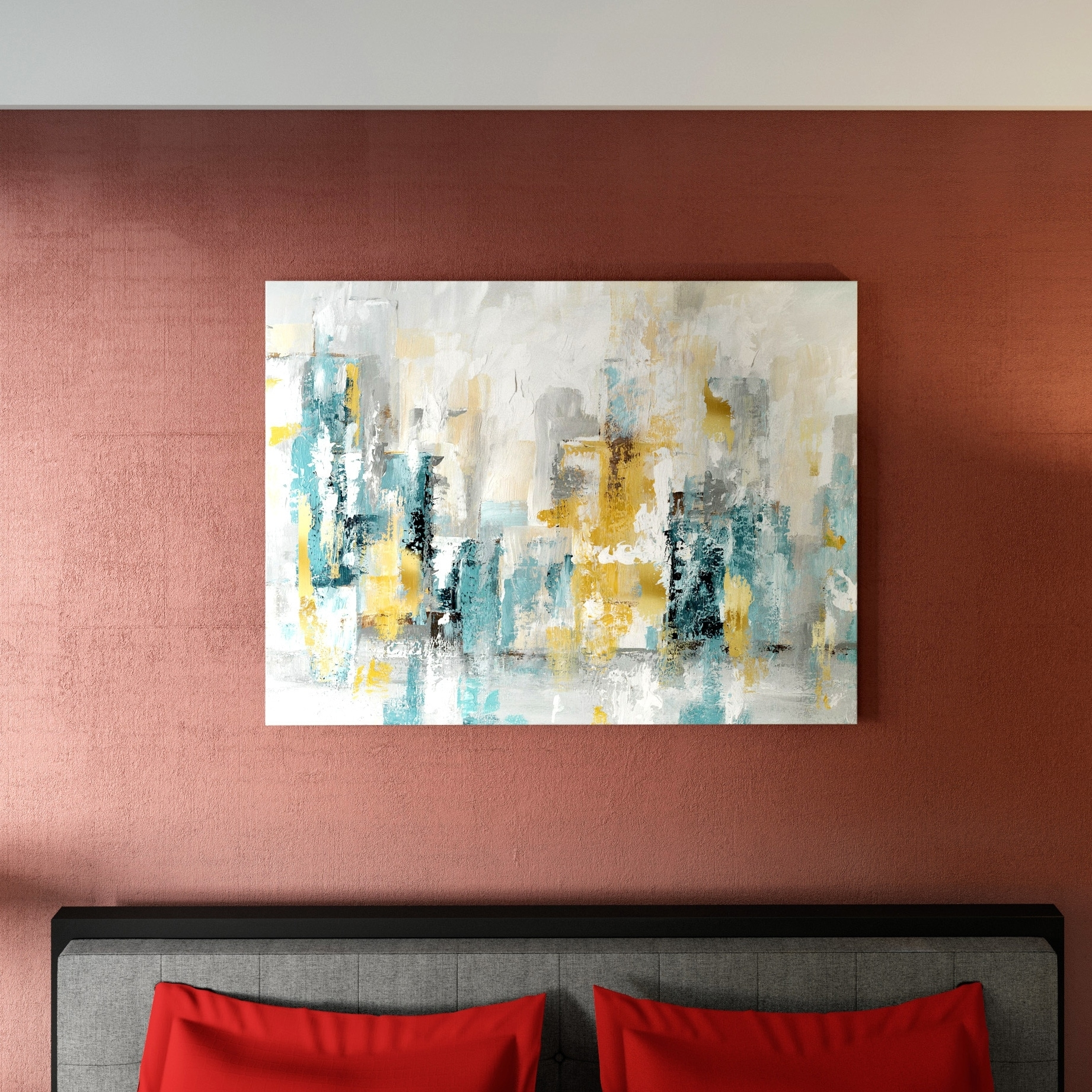 Shop Porch & Den City Views Ii' Premium Gallery Wrapped Canvas Wall with regard to Overstock Wall Art (Image 15 of 20)