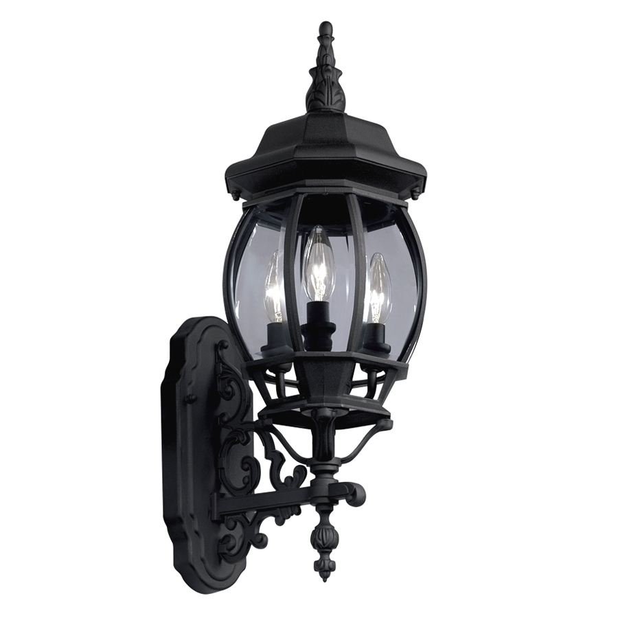 Shop Portfolio 22.68-In H Black Outdoor Wall Light At Lowes throughout Outdoor Lanterns At Lowes (Image 16 of 20)