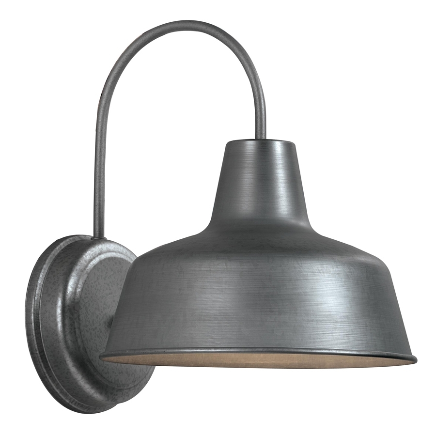 Shop Portfolio Ellicott 13.12-In H Galvanized Dark Sky Outdoor Wall with Outdoor Lanterns at Lowes (Image 17 of 20)