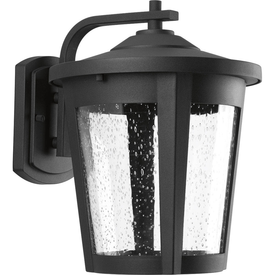 Shop Progress Lighting East Haven Led 12 In H Black Led Outdoor Wall For Outdoor Lanterns With Led Lights (View 18 of 20)