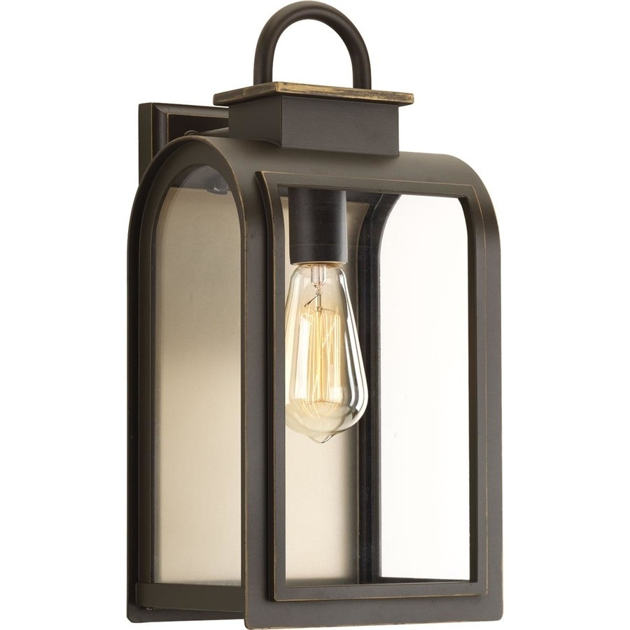 Shop Progress Lighting Refuge 16-In H Oil Rubbed Bronze Outdoor Wall for Outdoor Oil Lanterns (Image 16 of 20)