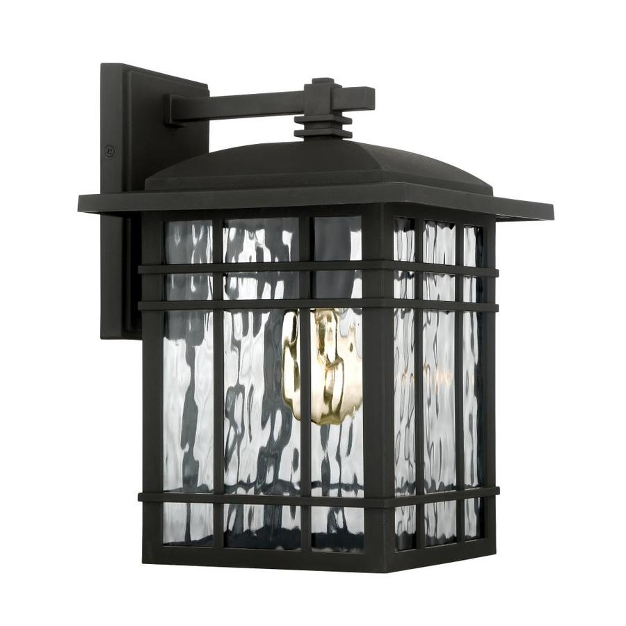 Shop Quoizel Canyon 12.75-In H Matte Black Outdoor Wall Light At for Quoizel Outdoor Lanterns (Image 16 of 20)