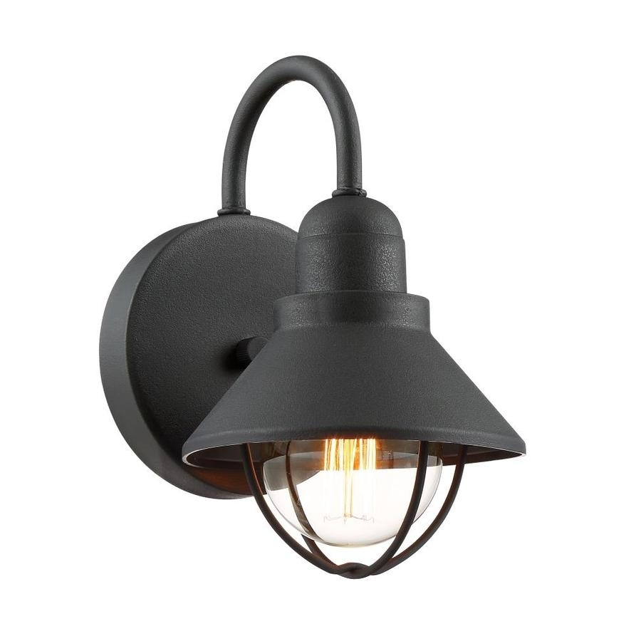 Shop Quoizel Cape Cod 9.5-In H Black Outdoor Wall Light At Lowes with Quoizel Outdoor Lanterns (Image 17 of 20)