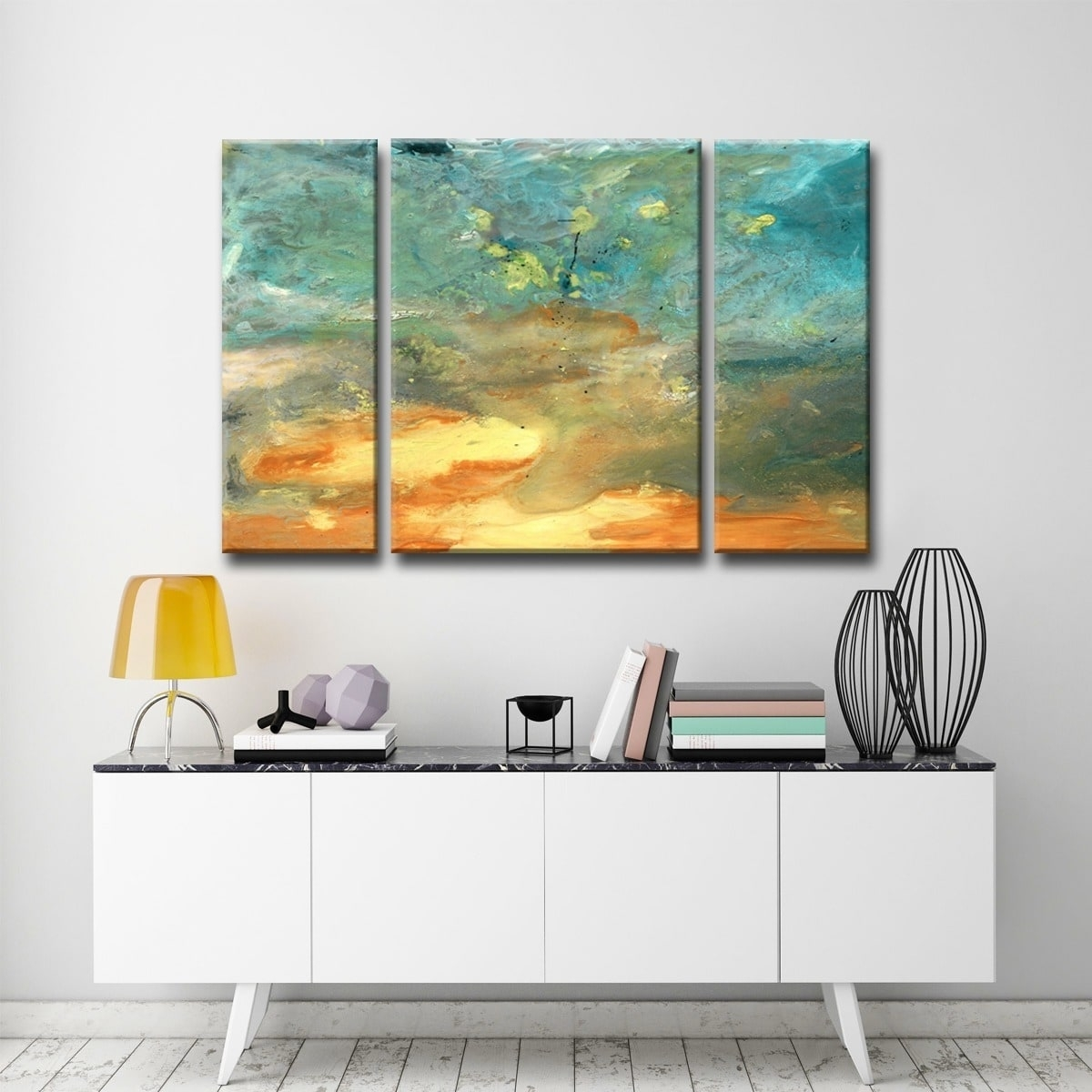 Shop Ready2Hangart 'abstract Landscape' 3-Piece Canvas Wall Art - On throughout 3 Piece Canvas Wall Art (Image 17 of 20)
