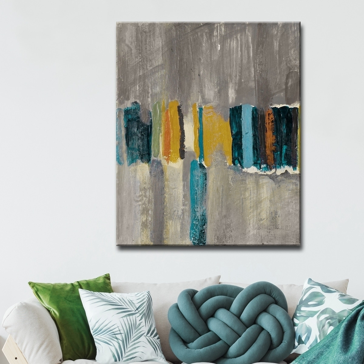 Shop Ready2Hangart 'smash Vii' Oversized Canvas Wall Art - Grey intended for Overstock Wall Art (Image 17 of 20)