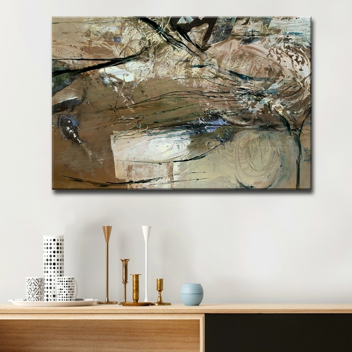 Shop Ready2Hangart 'smash Xviii' Oversized Canvas Wall Art - Brown intended for Cheap Oversized Canvas Wall Art (Image 19 of 20)