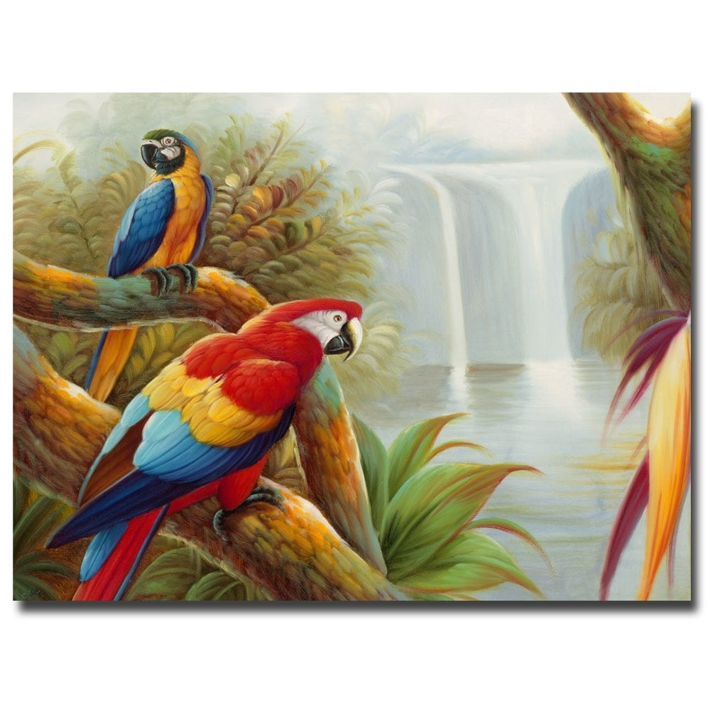 Shop Rio 'amazon Waterfall' Canvas Wall Art - On Sale - Free for Overstock Wall Art (Image 18 of 20)
