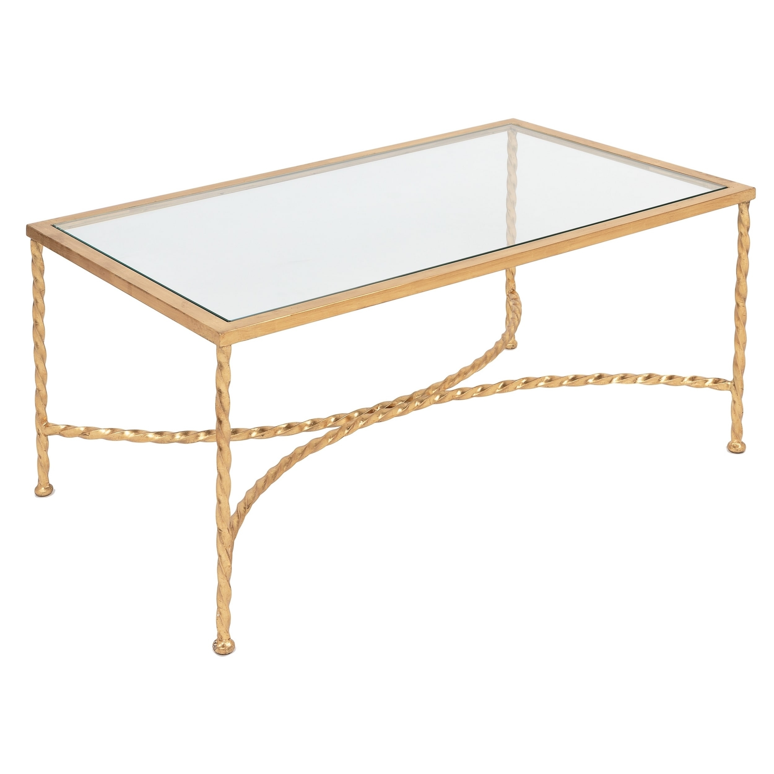 Shop Safavieh Couture High Line Collection Matilda Gold Leaf Coffee pertaining to Gold Leaf Collection Coffee Tables (Image 26 of 30)