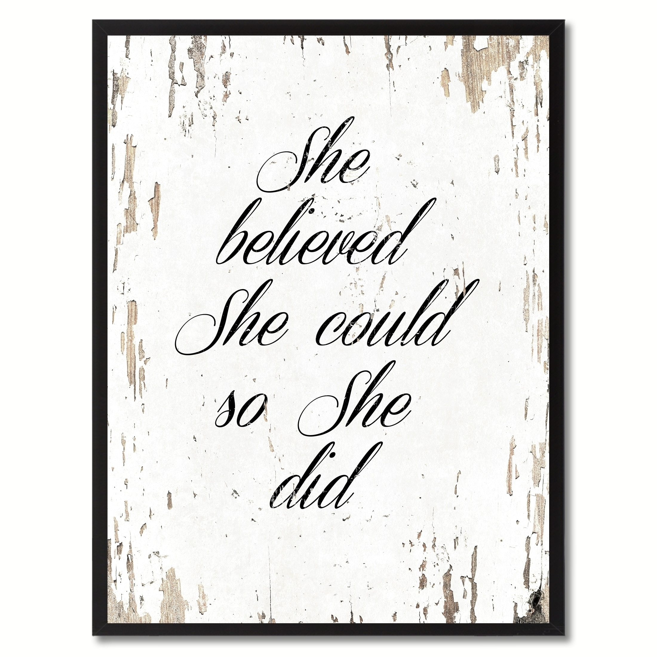 Shop She Believed She Could So She Did Saying Canvas Print Picture for She Believed She Could So She Did Wall Art (Image 20 of 20)