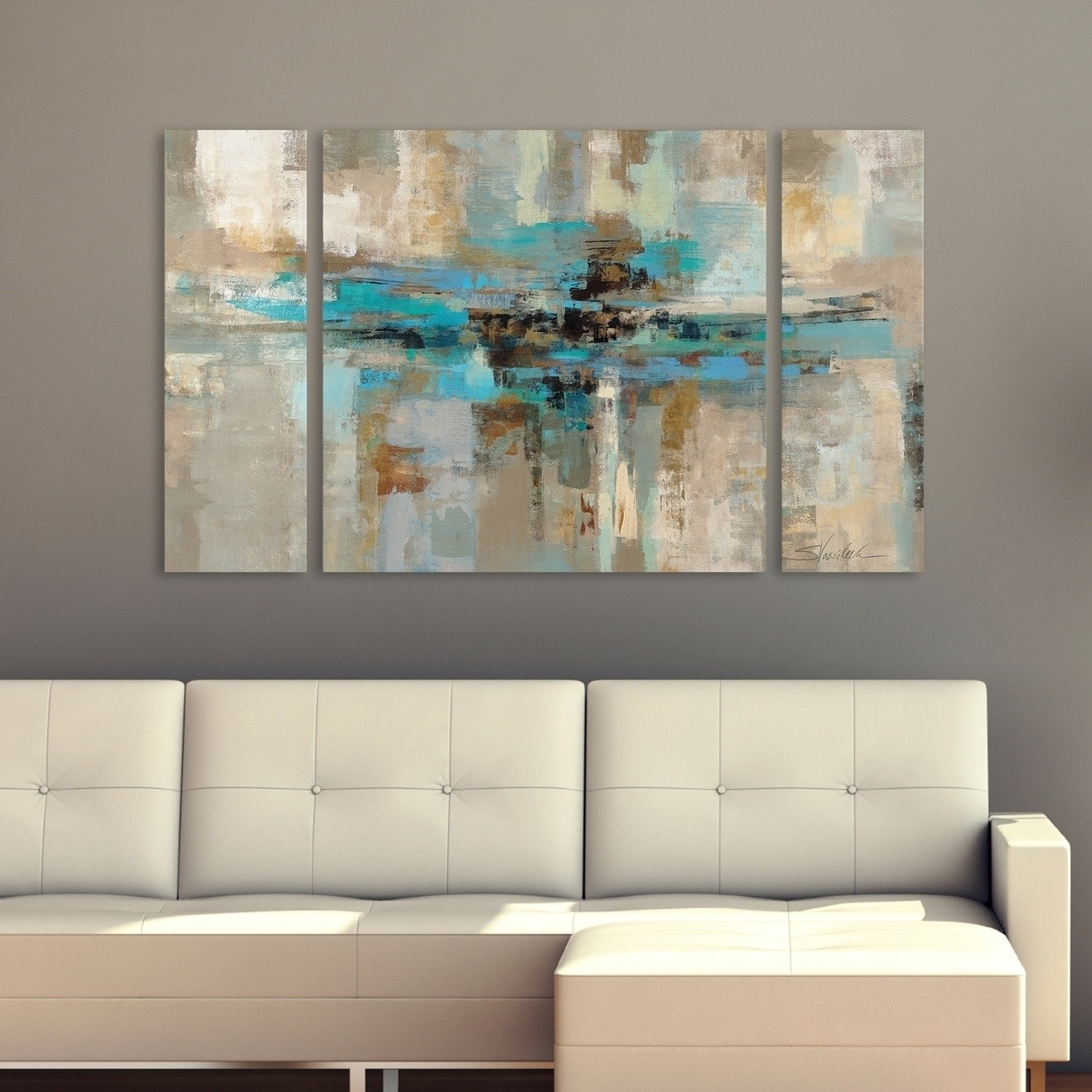 Shop Silvia Vassileva Morning Fjord 3 Piece Canvas Wall Art Set With Regard To 3 Piece Canvas Wall Art (View 18 of 20)
