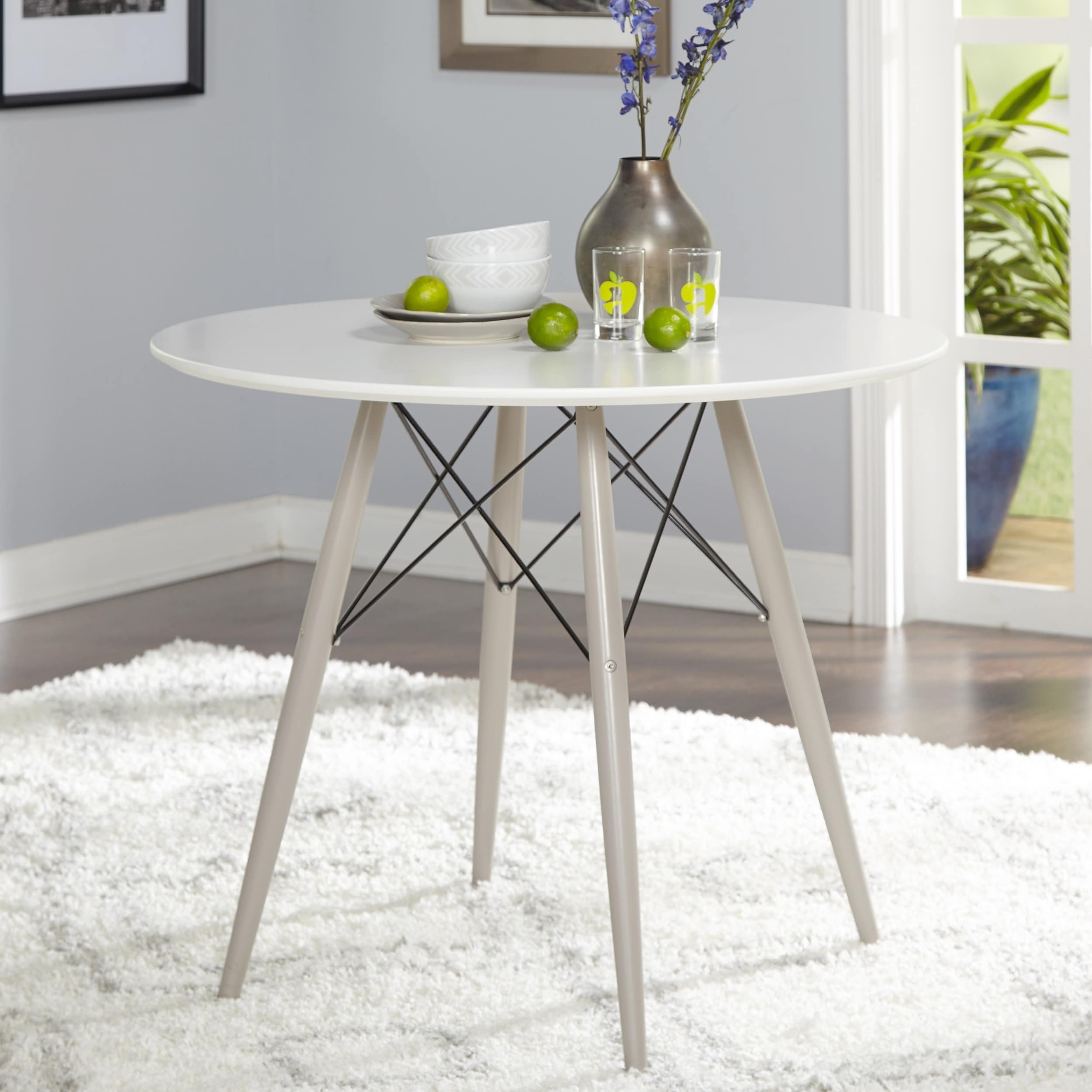 Shop Simple Living Elba Mid-Century Dining Table - N/a - On Sale with regard to Elba Ottoman-Coffee Tables (Image 27 of 30)