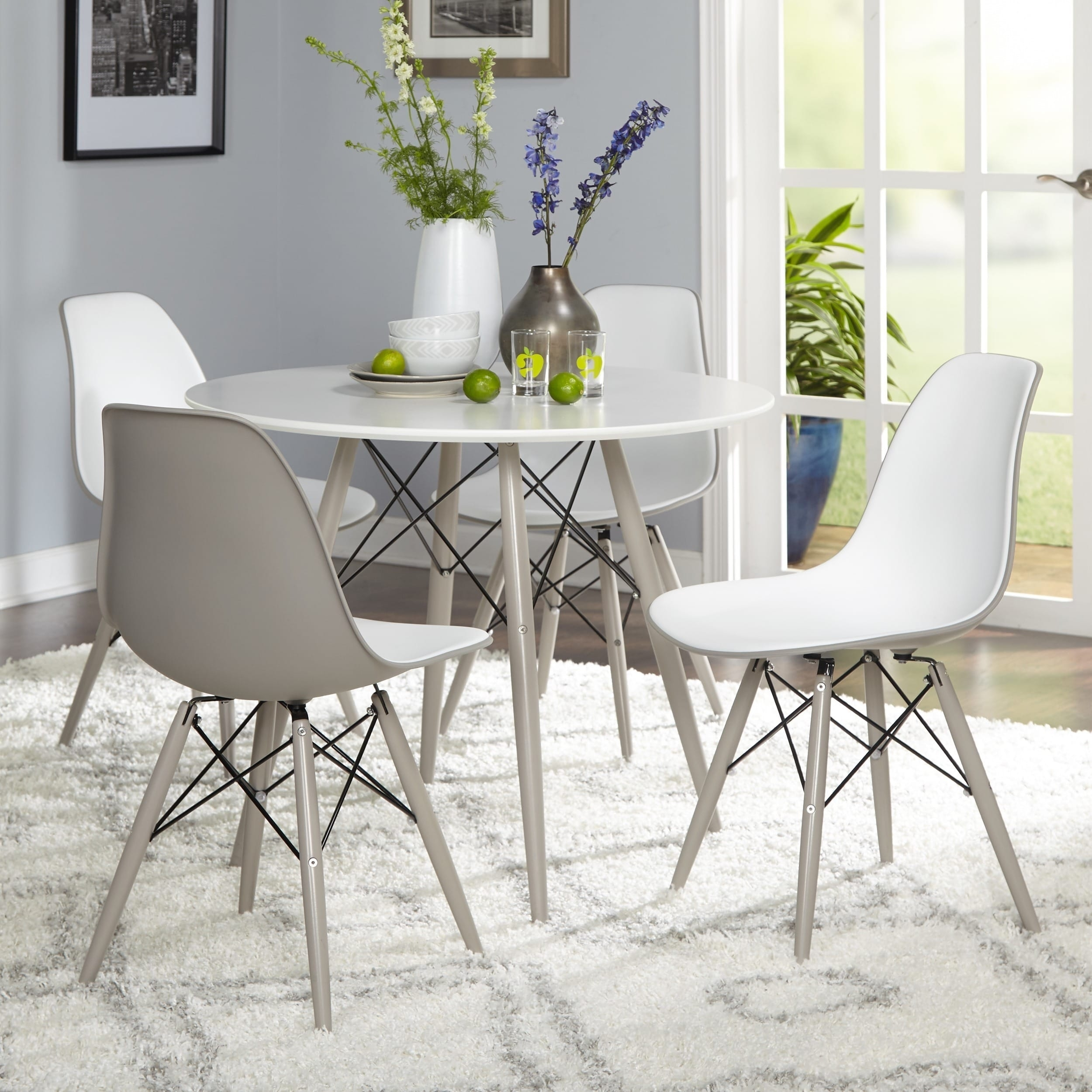Shop Simple Living Mid-Century Elba Dining Set - On Sale - Free with regard to Elba Ottoman-Coffee Tables (Image 28 of 30)