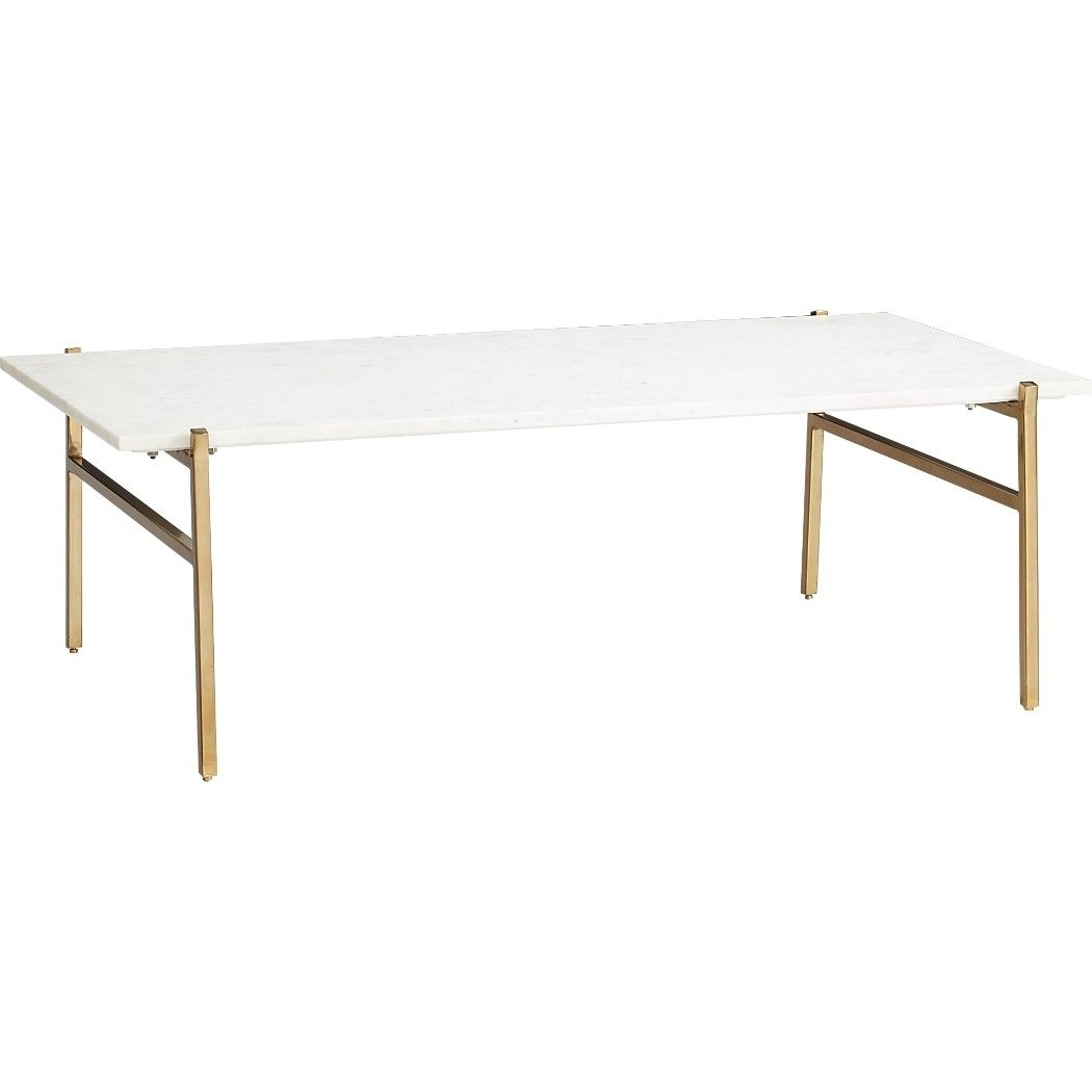 Shop Slab Marble Coffee Table With Brass Base. Modern Fusion Of regarding Slab Small Marble Coffee Tables With Antiqued Silver Base (Image 24 of 30)