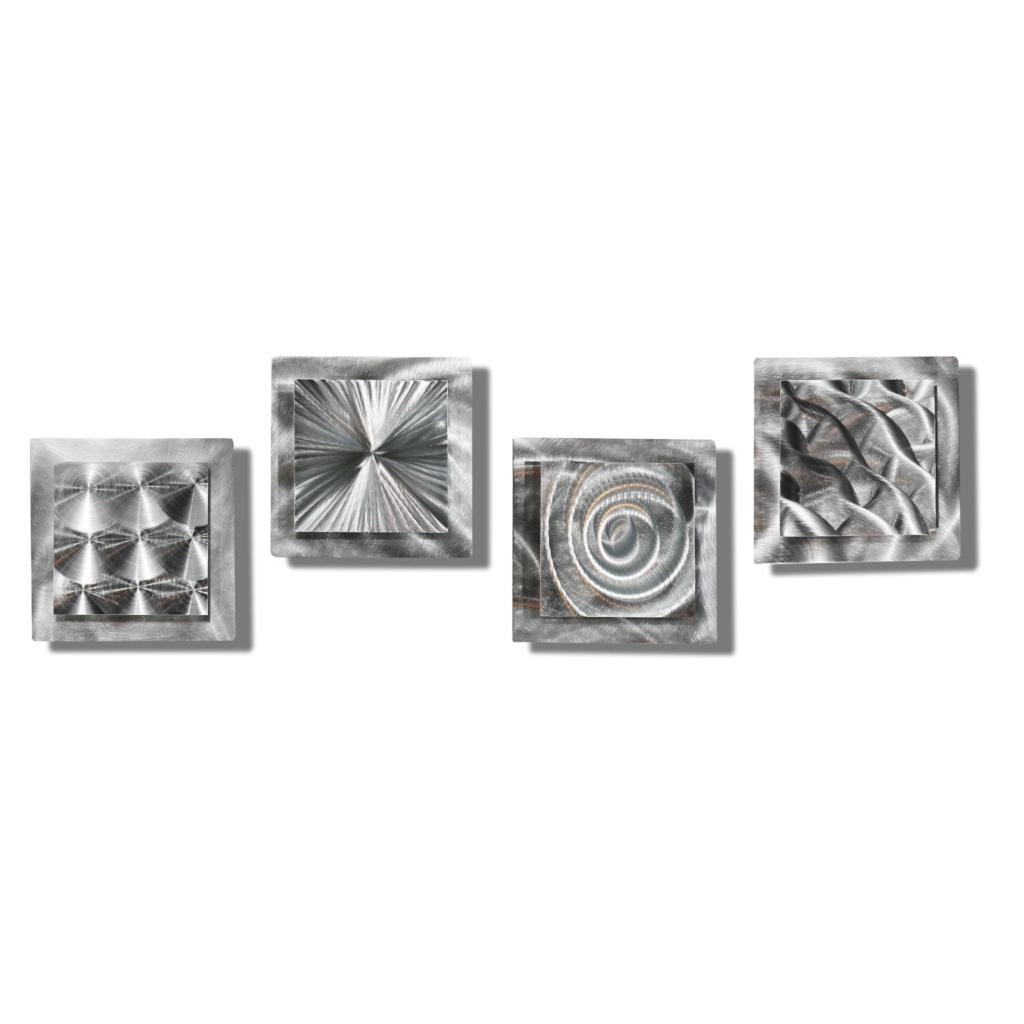 Shop Statements2000 Silver Metal Wall Art Accent Sculpturejon with Silver Metal Wall Art (Image 11 of 20)