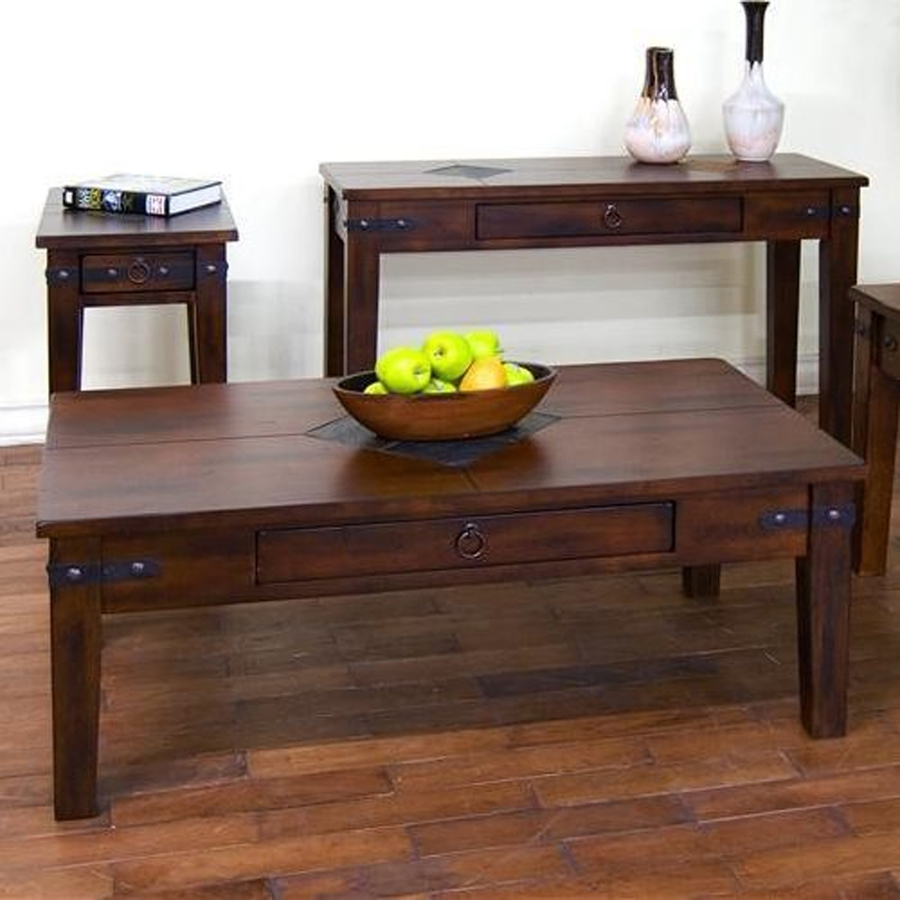 Shop Sunny Designs Santa Fe Dark Chocolate Coffee Table At Lowes Intended For Santa Fe Coffee Tables (View 17 of 30)