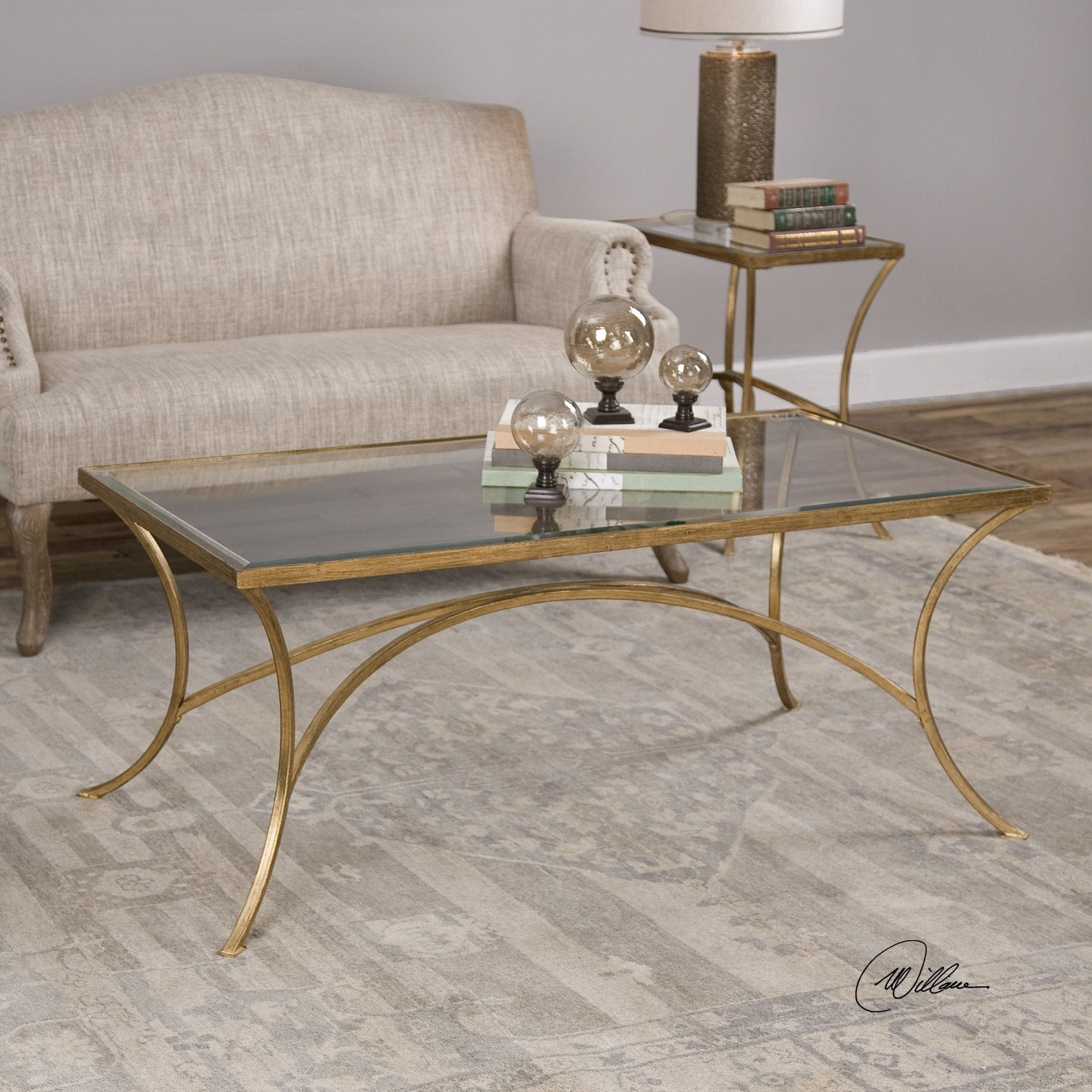 Shop Uttermost Alayna Gold Coffee Table - Free Shipping Today throughout Cuff Hammered Gold Coffee Tables (Image 28 of 30)