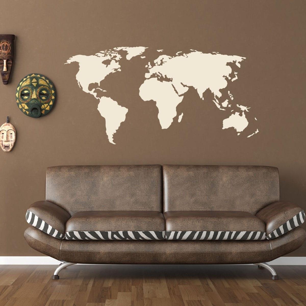 Shop World Map World Vinyl Wall Art – Free Shipping Today With Regard To Vinyl Wall Art World Map (View 20 of 20)