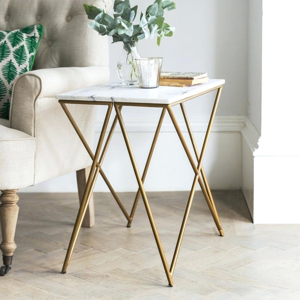 Side Table ~ Marble Top Side Tables Stellar White Table Smart Round pertaining to Smart Round Marble Top Coffee Tables (Image 25 of 30)