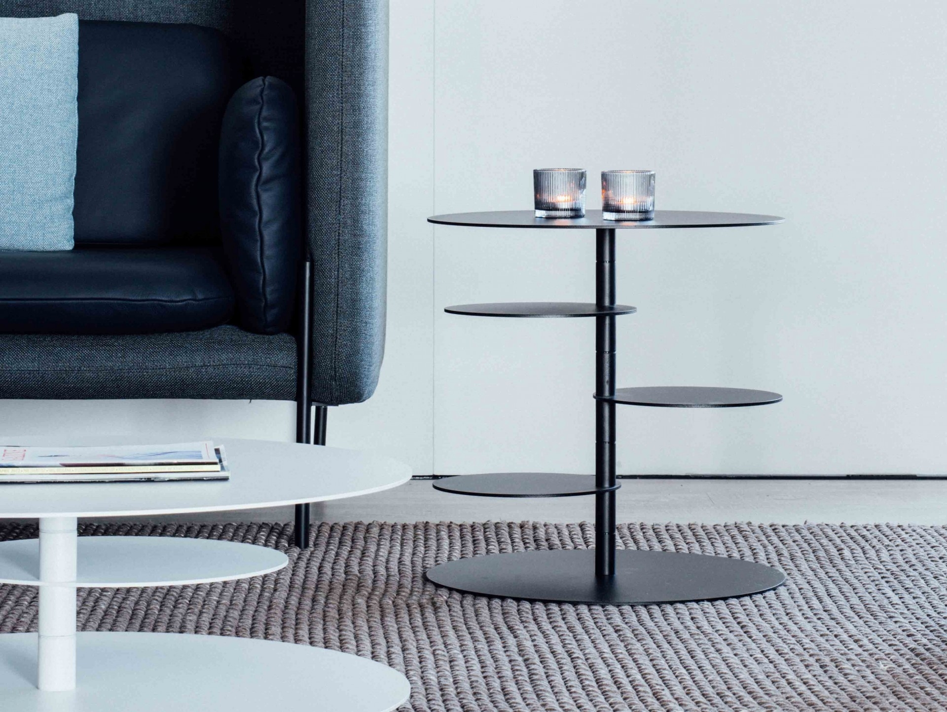 Side Table Pirouette | Recor Home with Spin Rotating Coffee Tables (Image 24 of 30)