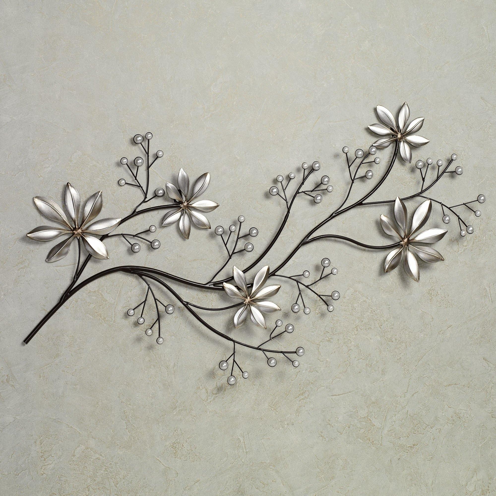 Silver Metal Wall Art Flowers - Elitflat pertaining to Silver Metal Wall Art (Image 15 of 20)