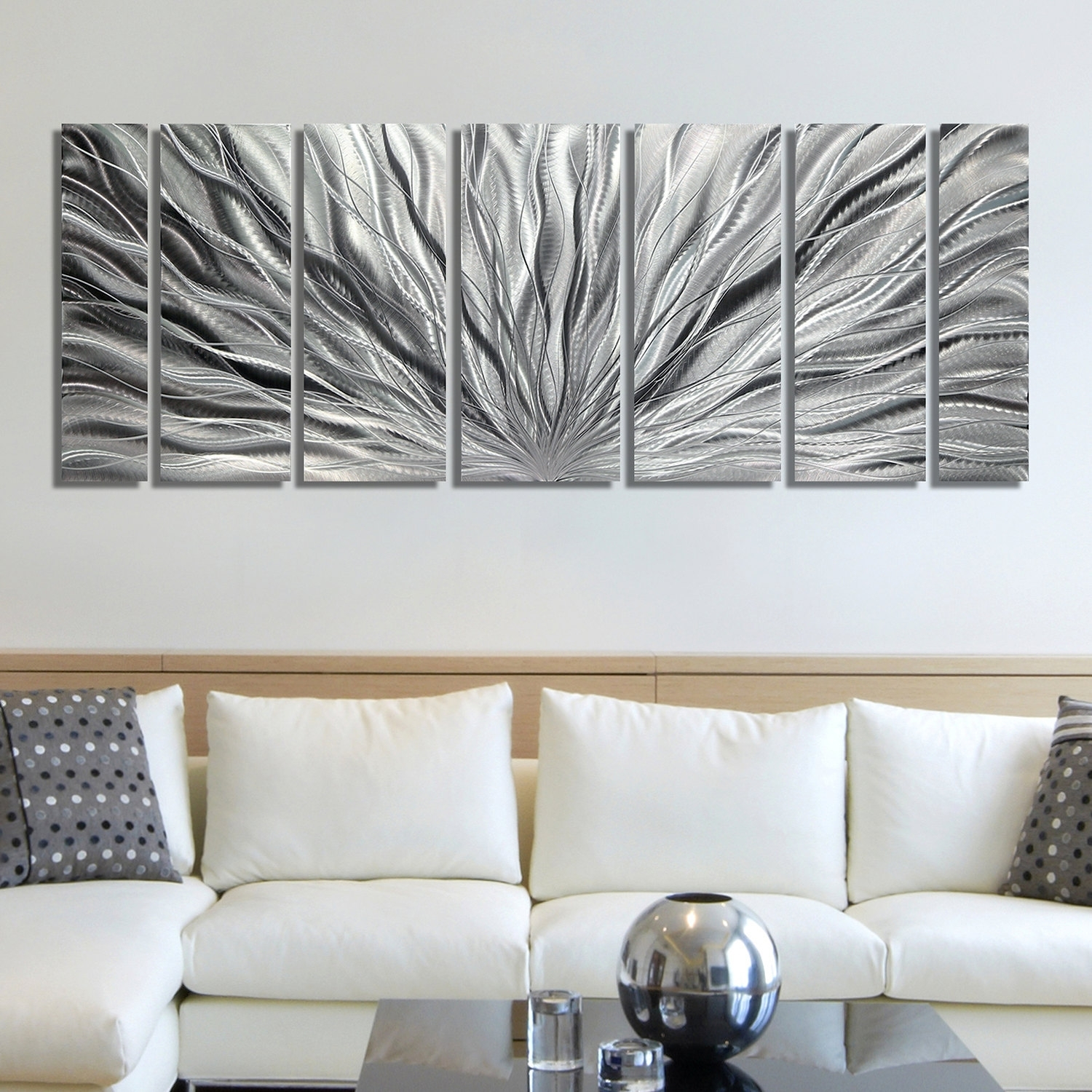 Silver Wall Art Cool Wall Decor On Sale – Wall Decoration And Wall With Silver Wall Art (View 13 of 20)
