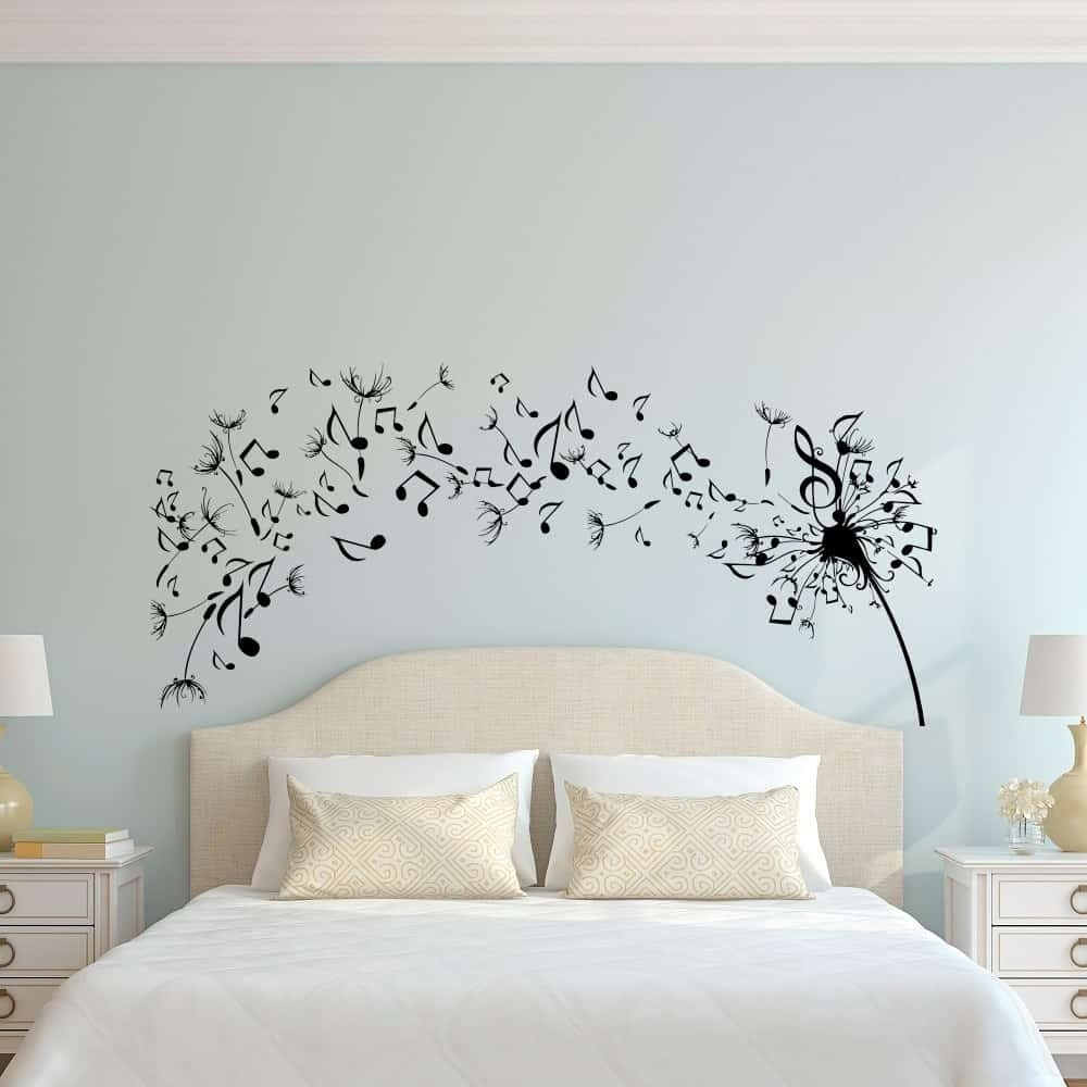 Simple Dandelion Wall Art Decal For Bedroom Design - Home Decor regarding Dandelion Wall Art (Image 17 of 20)