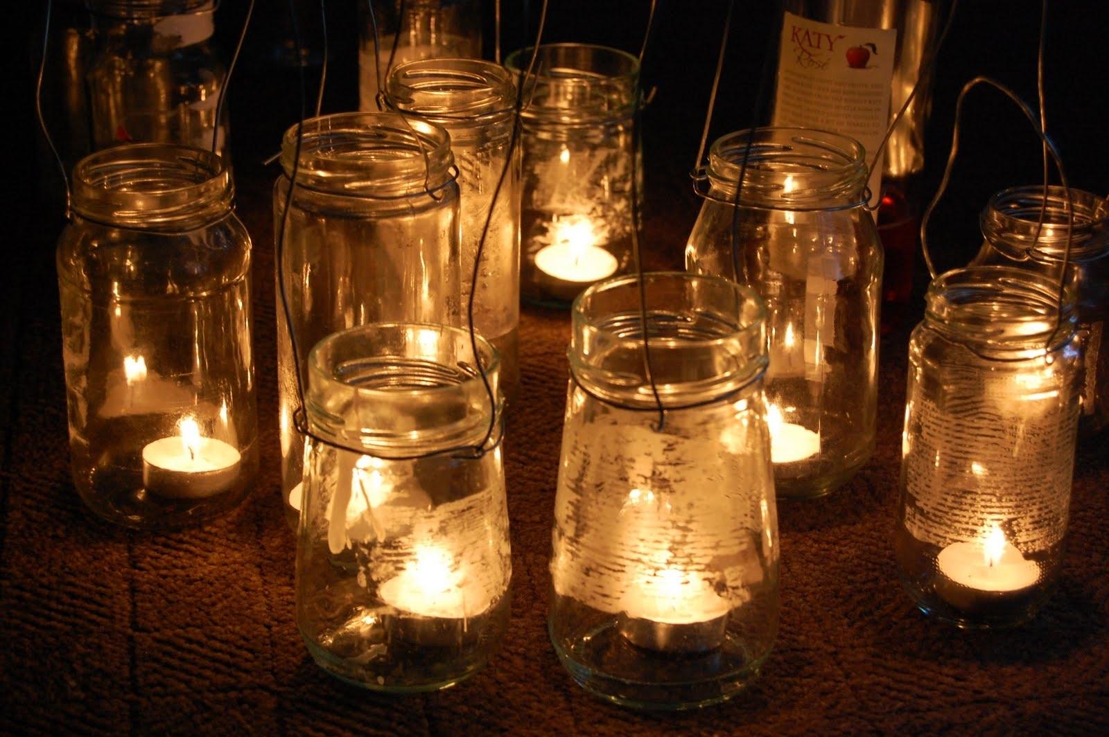 Simple Diy Rustic Hanging Mason Jar Candle Holder Lanterns For intended for Outdoor Jar Lanterns (Image 20 of 20)