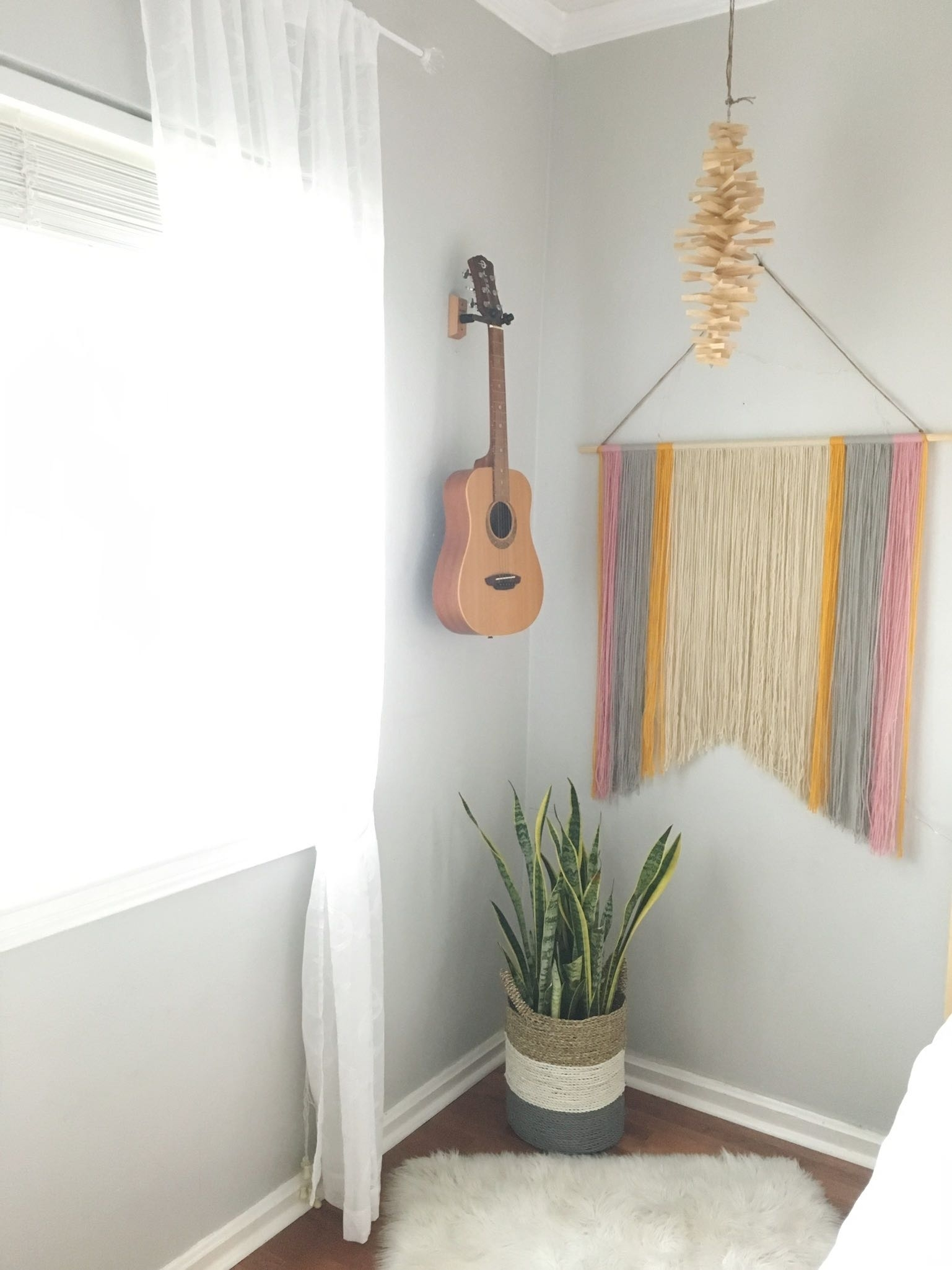Simple Diy Yarn Wall Art For $10 (or Less) | That Homebird Life With Yarn Wall Art (View 7 of 20)
