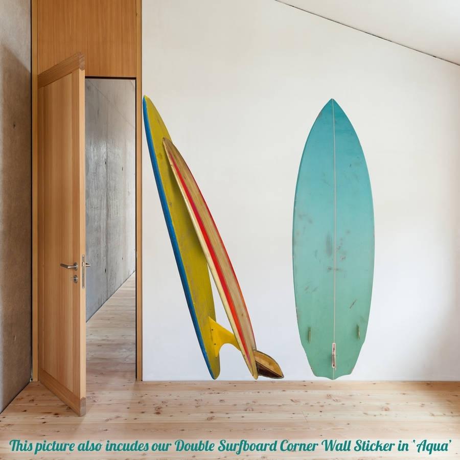 Single Surfboard Wall Stickeroakdene Designs Within Surfboard Wall Art (View 10 of 20)