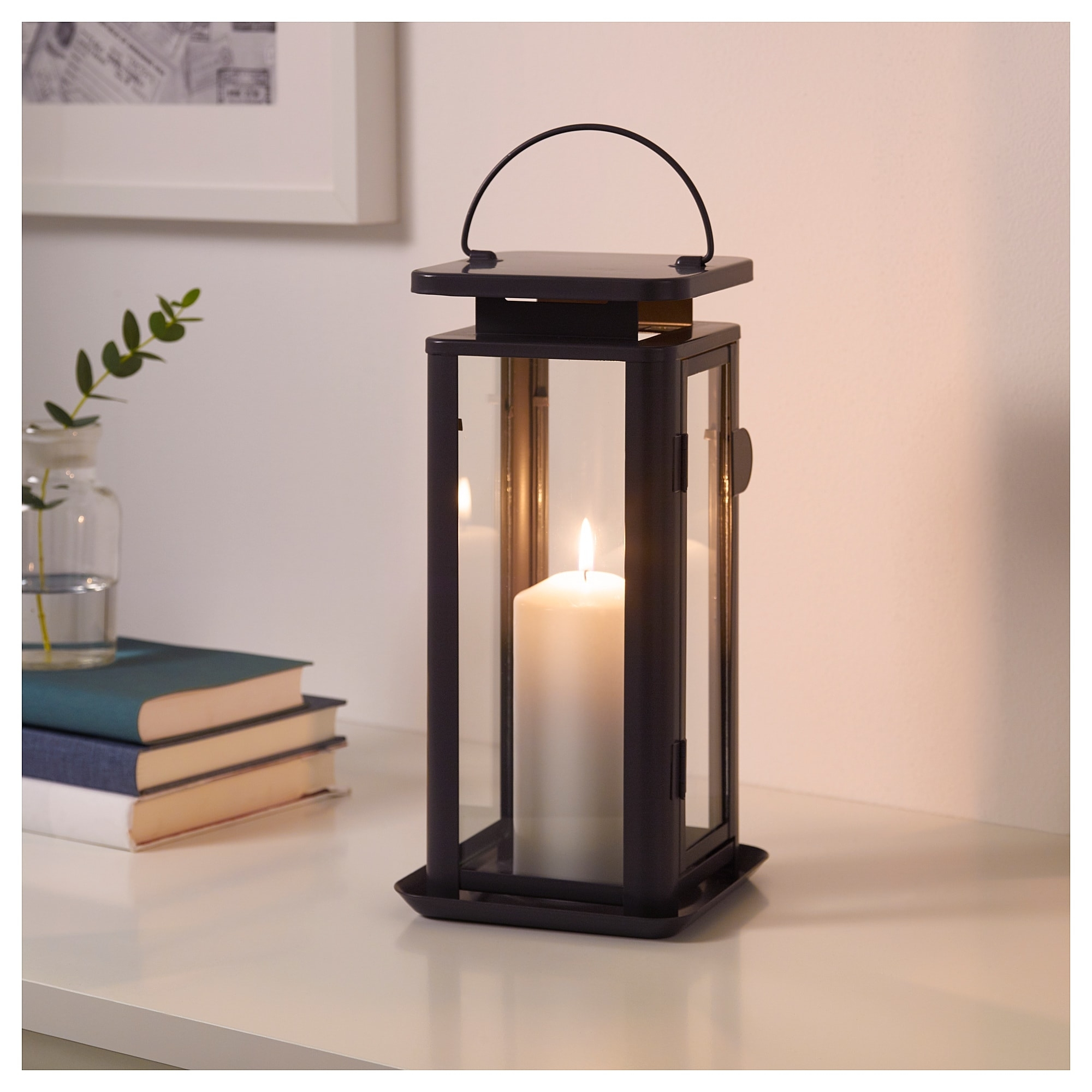 Sinnesro Lantern F Block Candle, In/outdoor Grey 29 Cm - Ikea intended for Outdoor Grey Lanterns (Image 17 of 20)